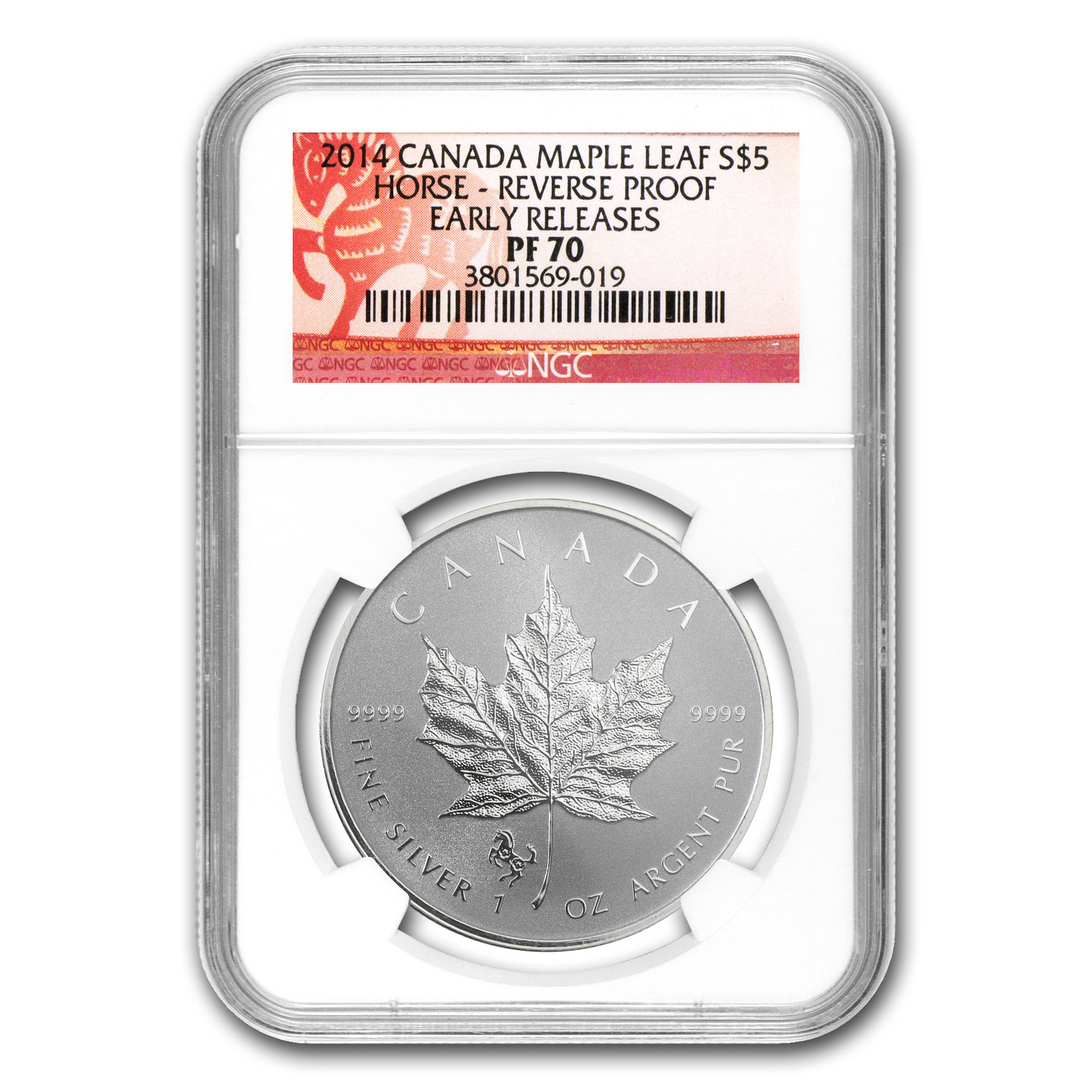 2014 Canada 1 oz Silver Maple Leaf Horse Privy PF-70 NGC (ER)