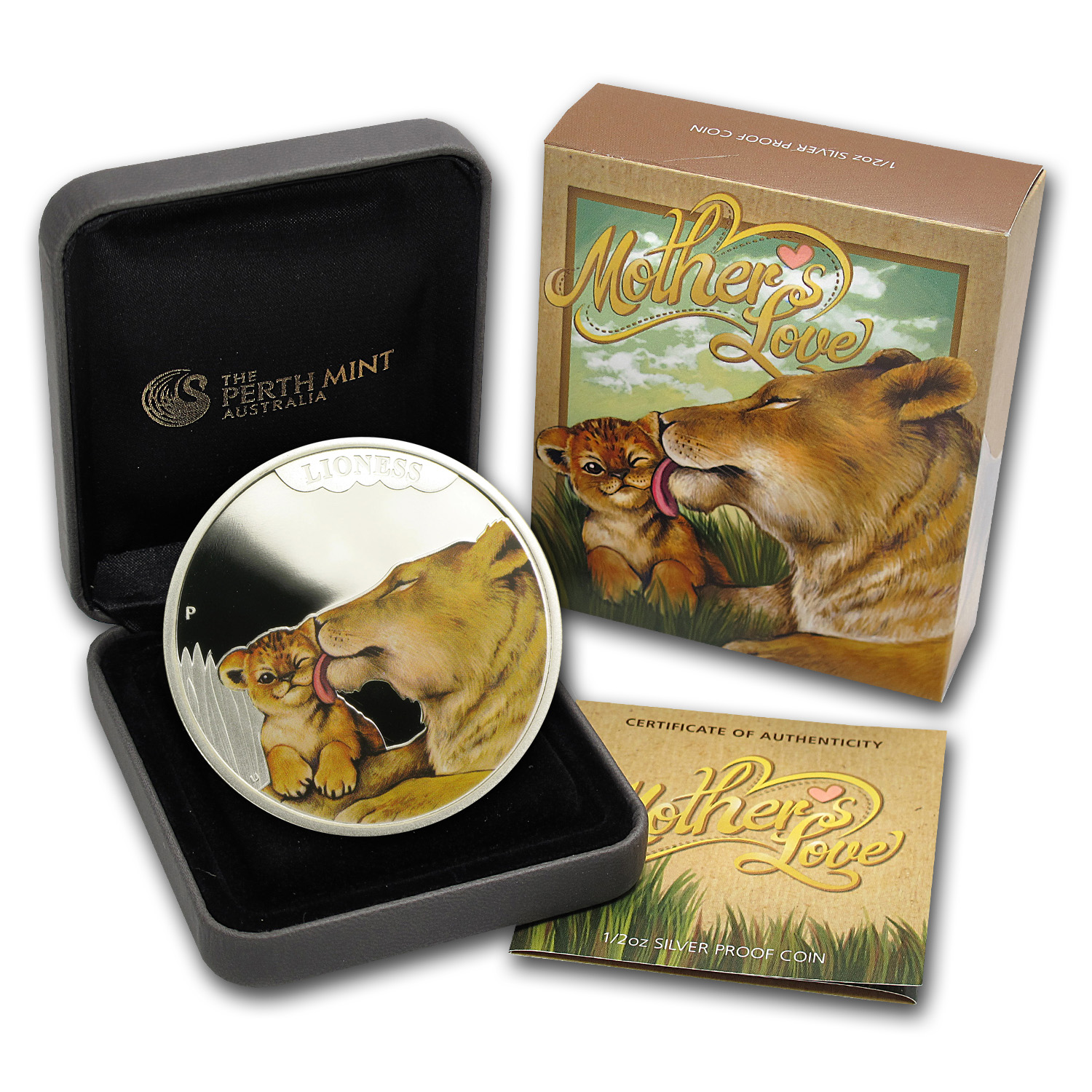 2014 1/2 oz Proof Silver Australian Mother's Love - Lioness