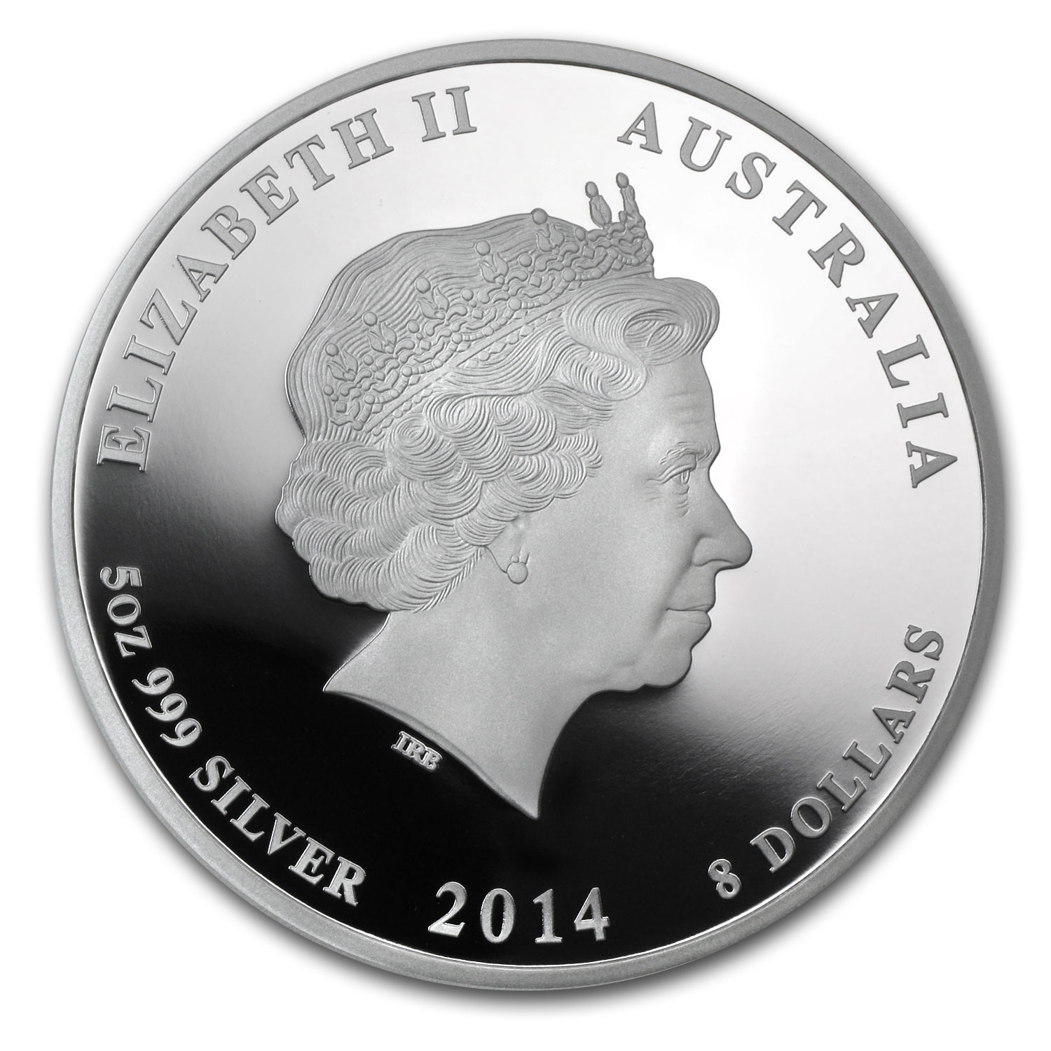 2014 5 oz Silver Australian Year of the Horse Proof (SII)