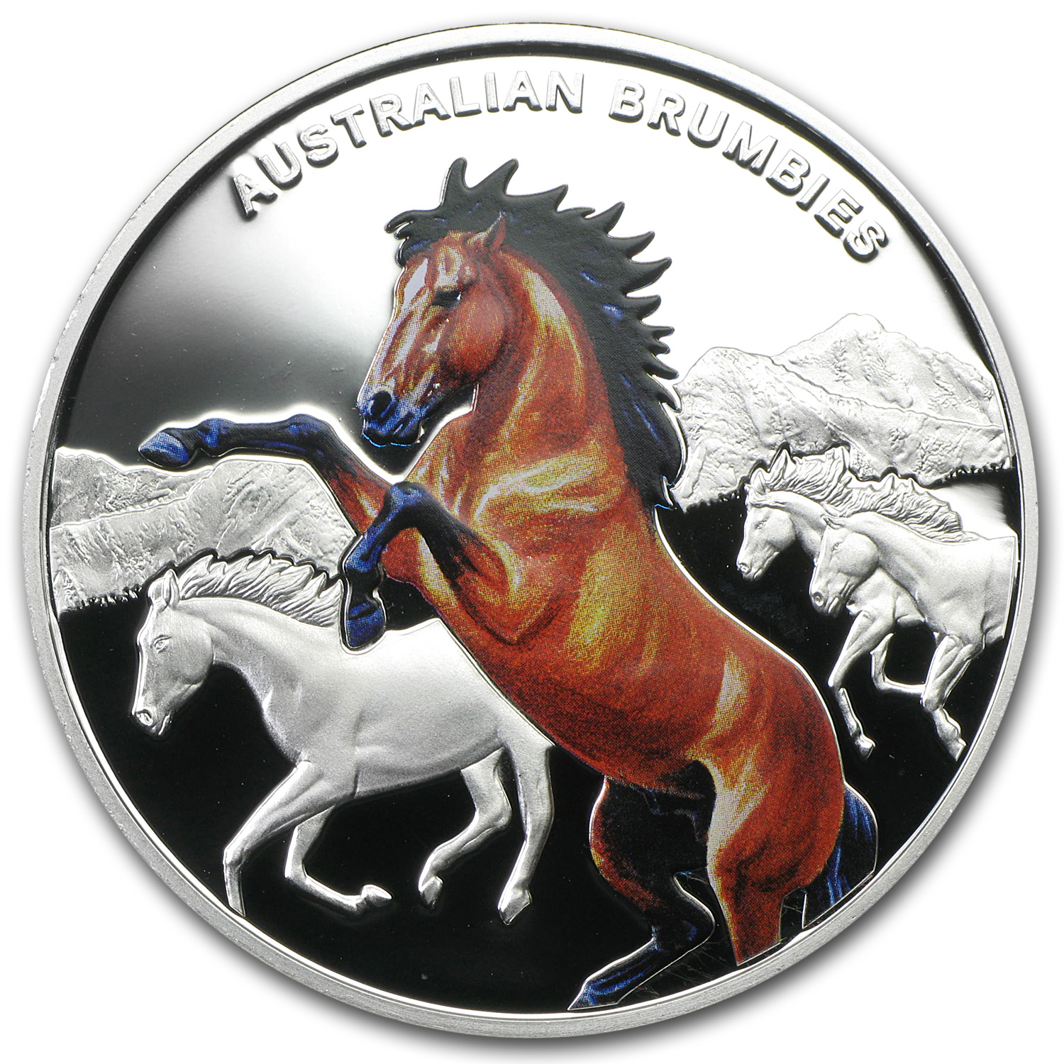 2014 Niue Proof Silver Legendary Horse Australian Brumbies