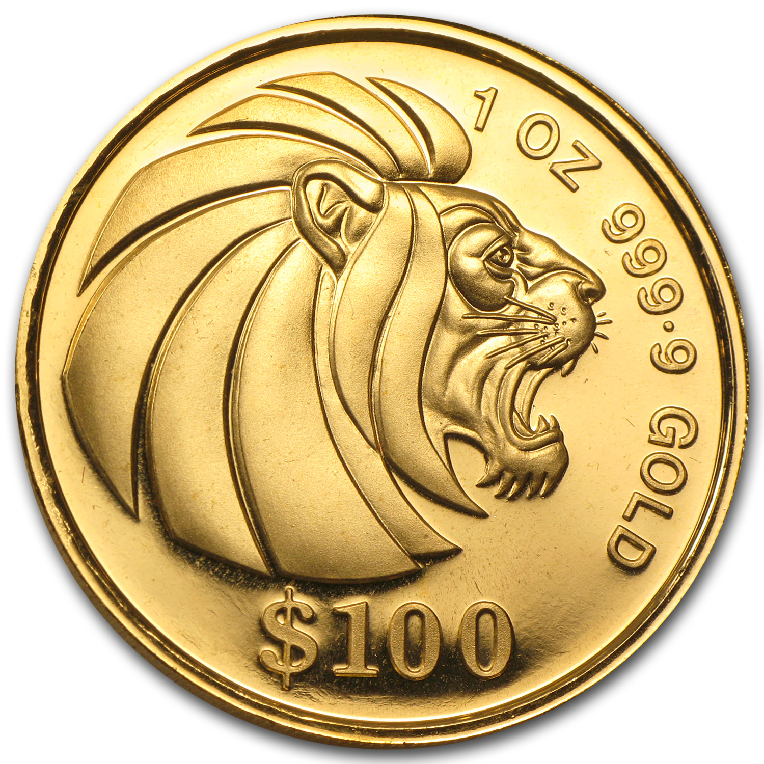 1990-Date Singapore 1 oz Proof Gold Lion