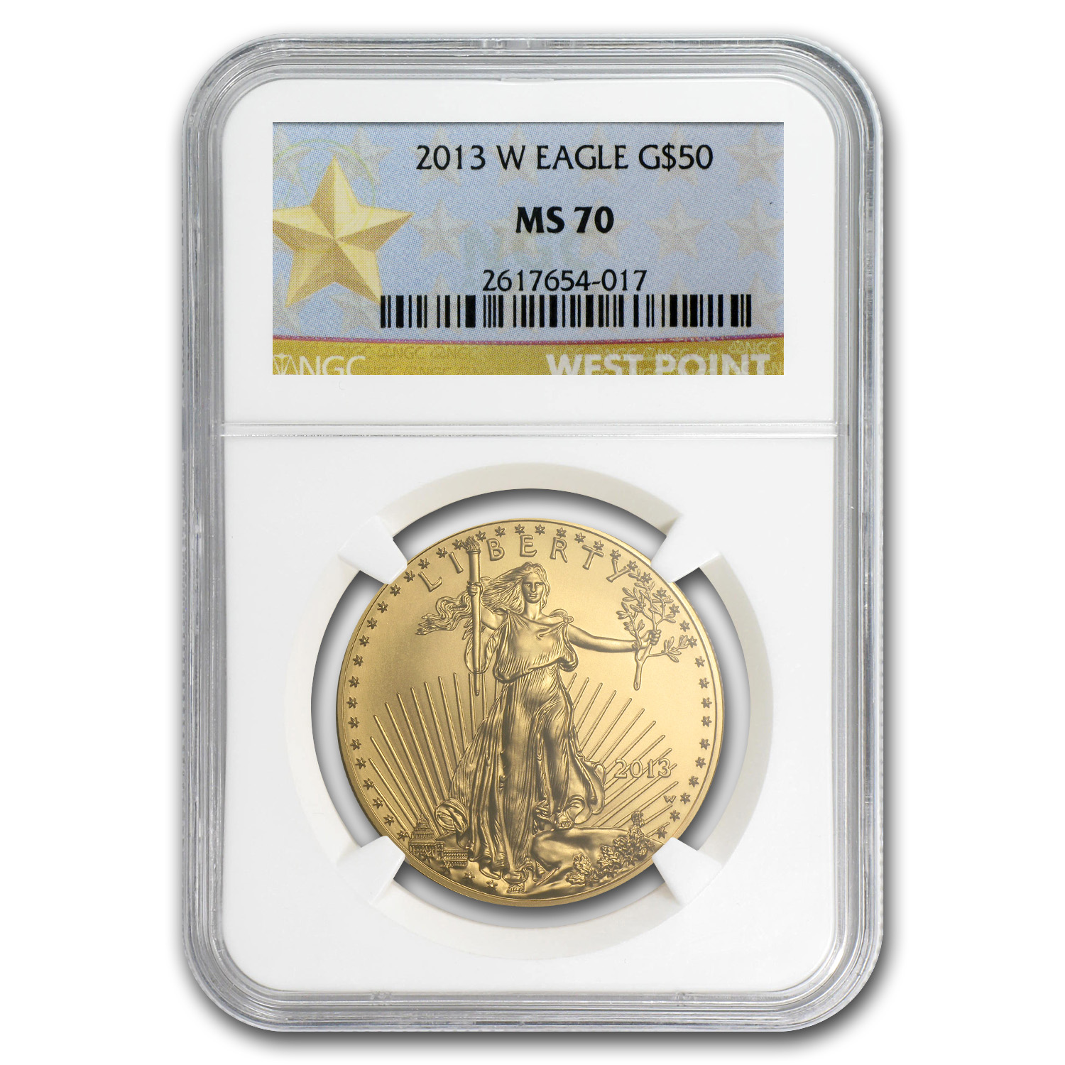 2013-W 1 oz Burnished Gold Eagle MS-70 NGC