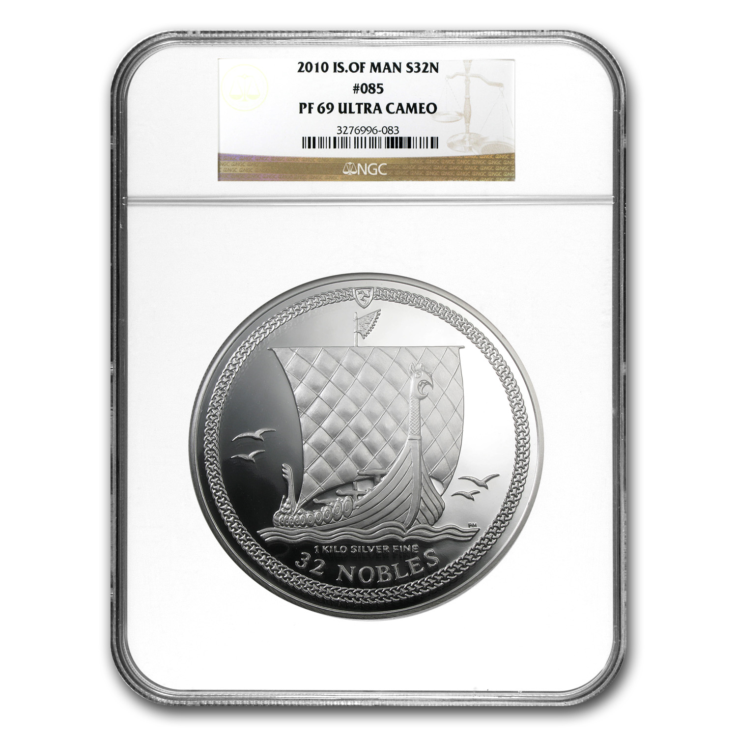 2010 Isle of Man 1 kilo Silver 32 Nobles PF-69 NGC