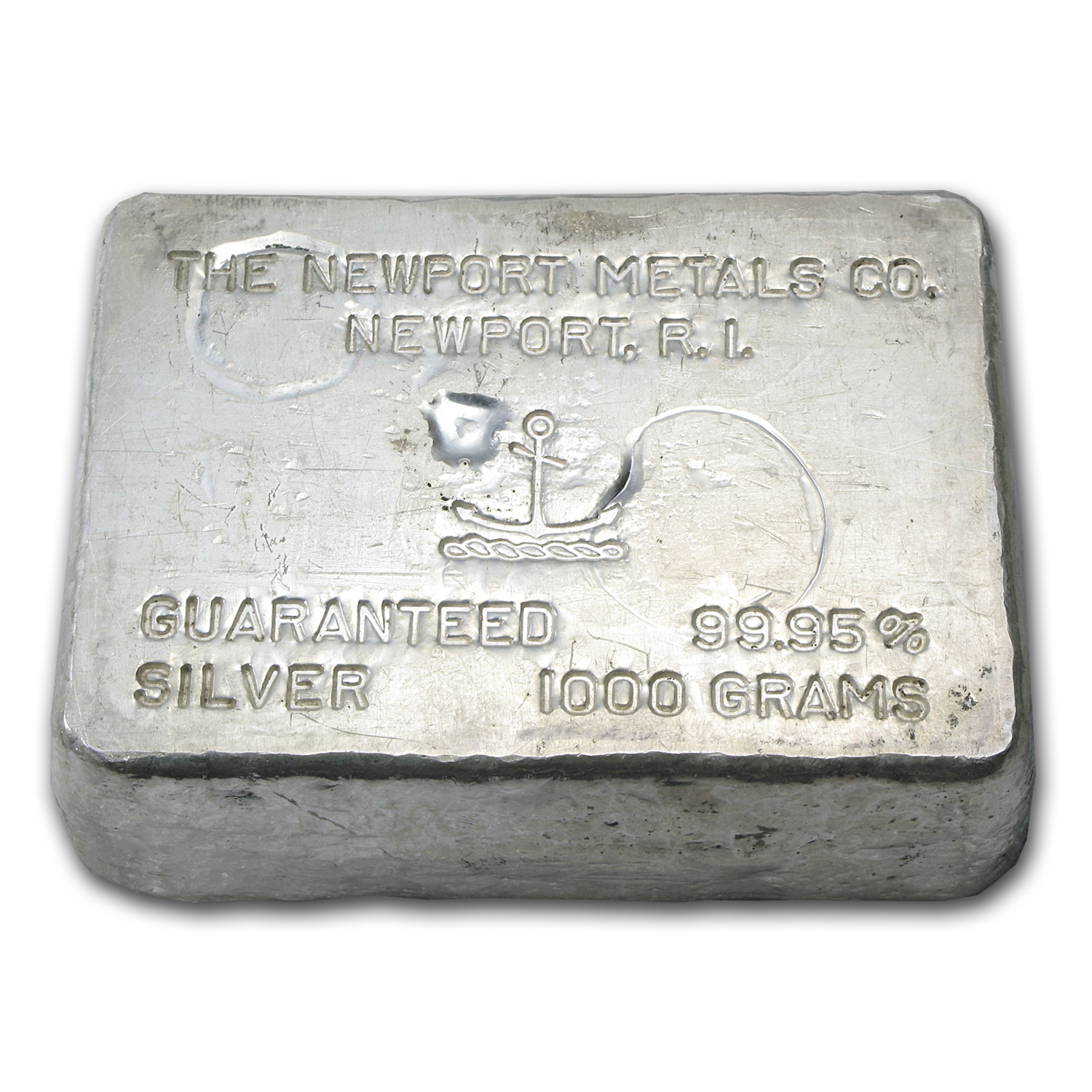 1 kilo Silver Bar - Newport Metals Co. (1000 Gram)