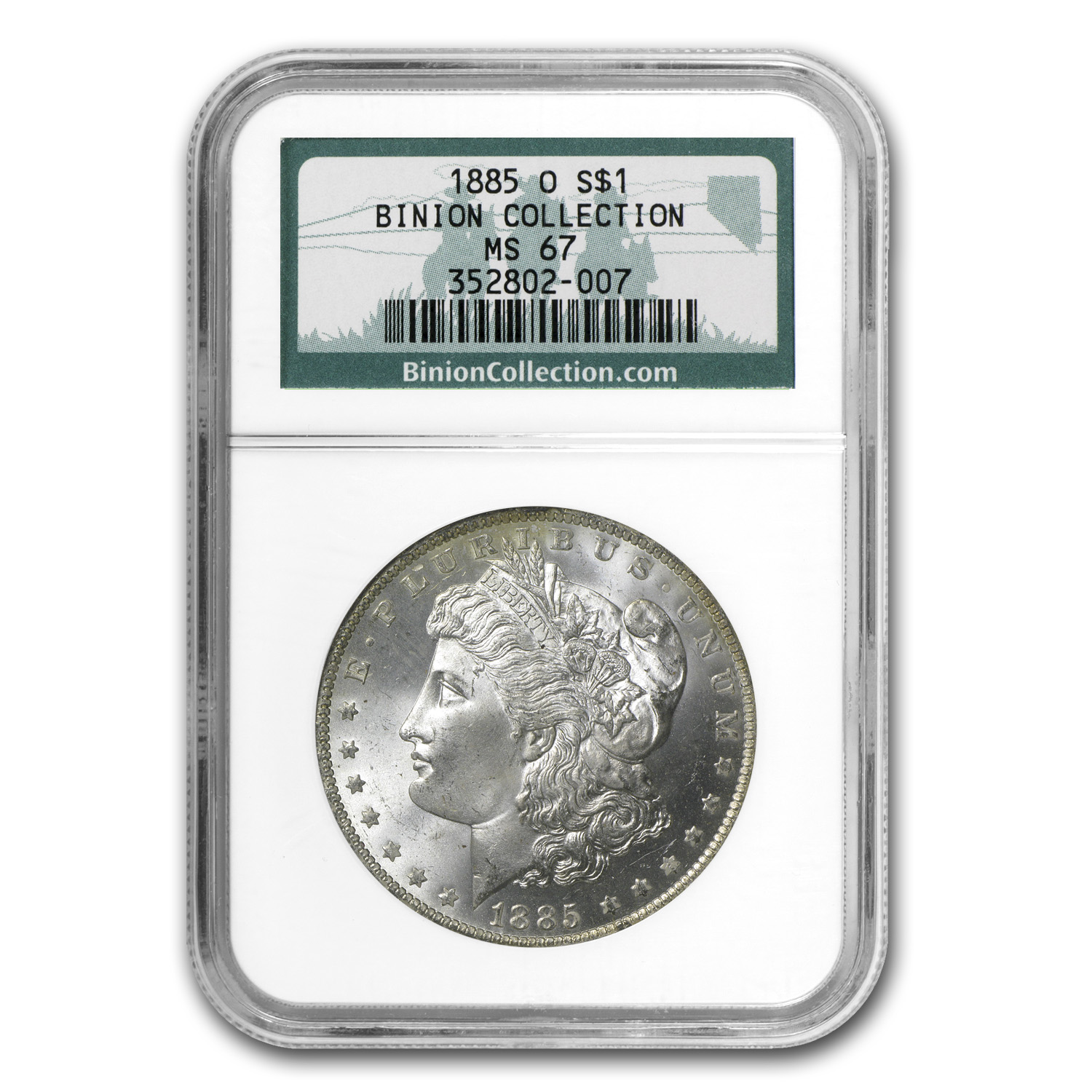 1885-O Morgan Dollar MS-67 NGC (Binion Collection)