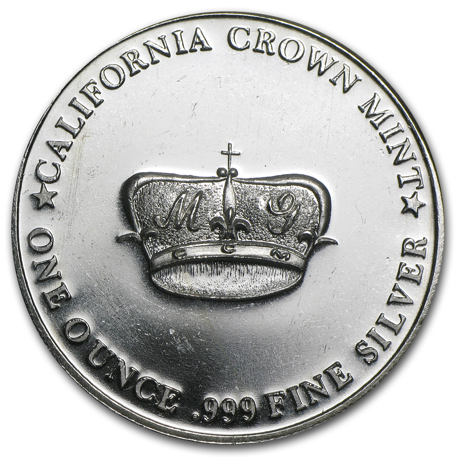 1 oz Silver Round - MG Crown