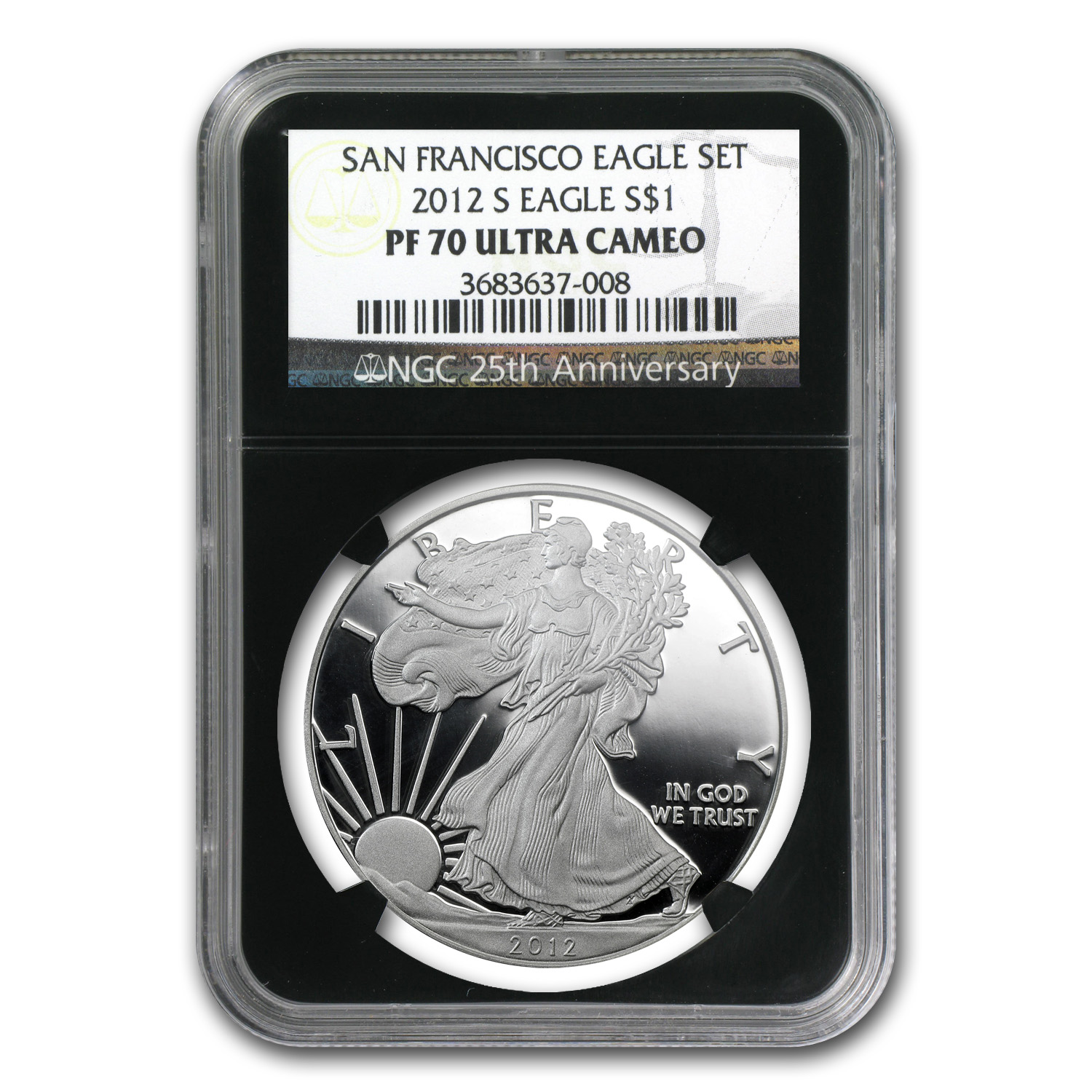 2012-S (2-Coin) Silver Eagle Set PF-70 NGC 75th Anniv