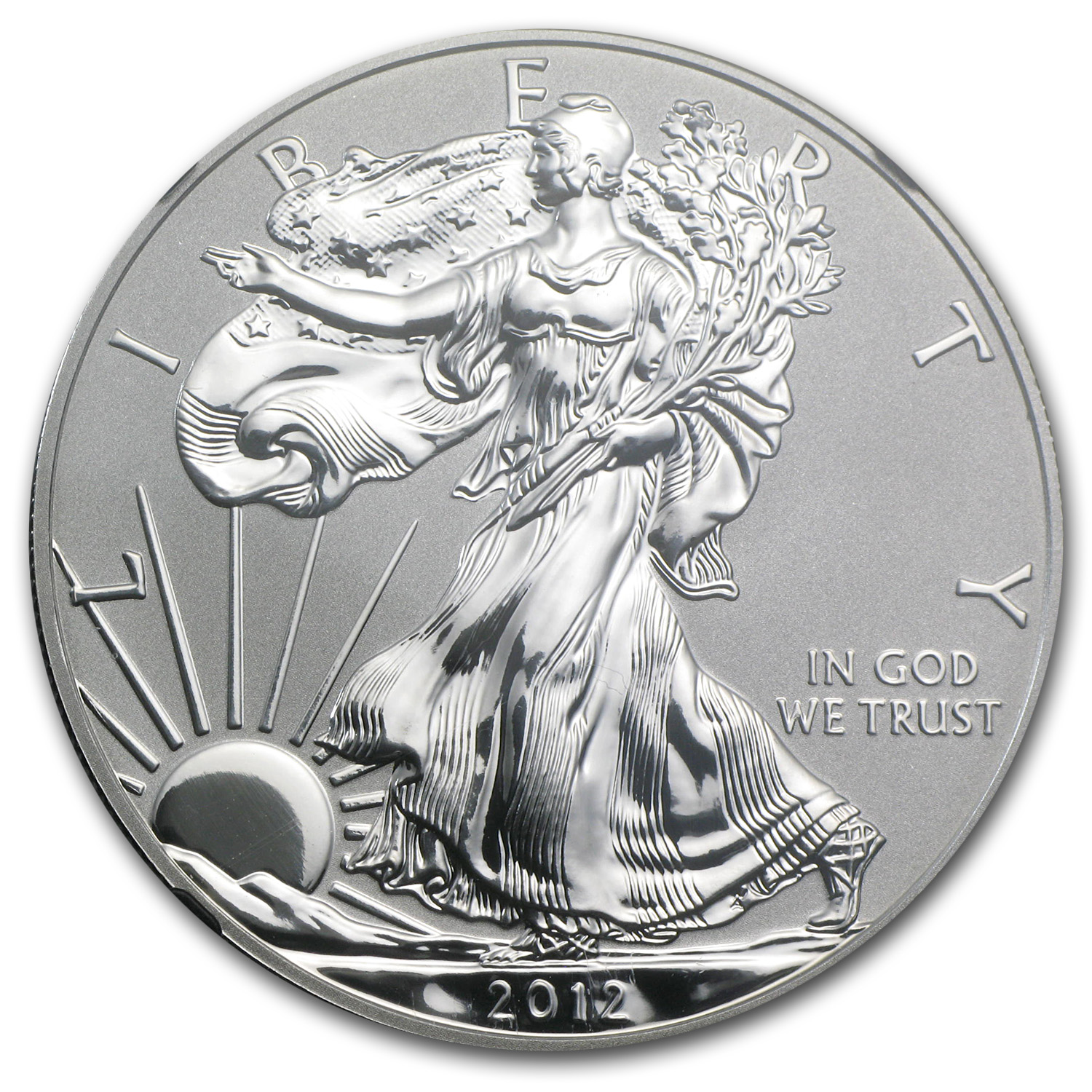 2012-S Rev Proof Silver American Eagle PF70 (Retro Black Insert)