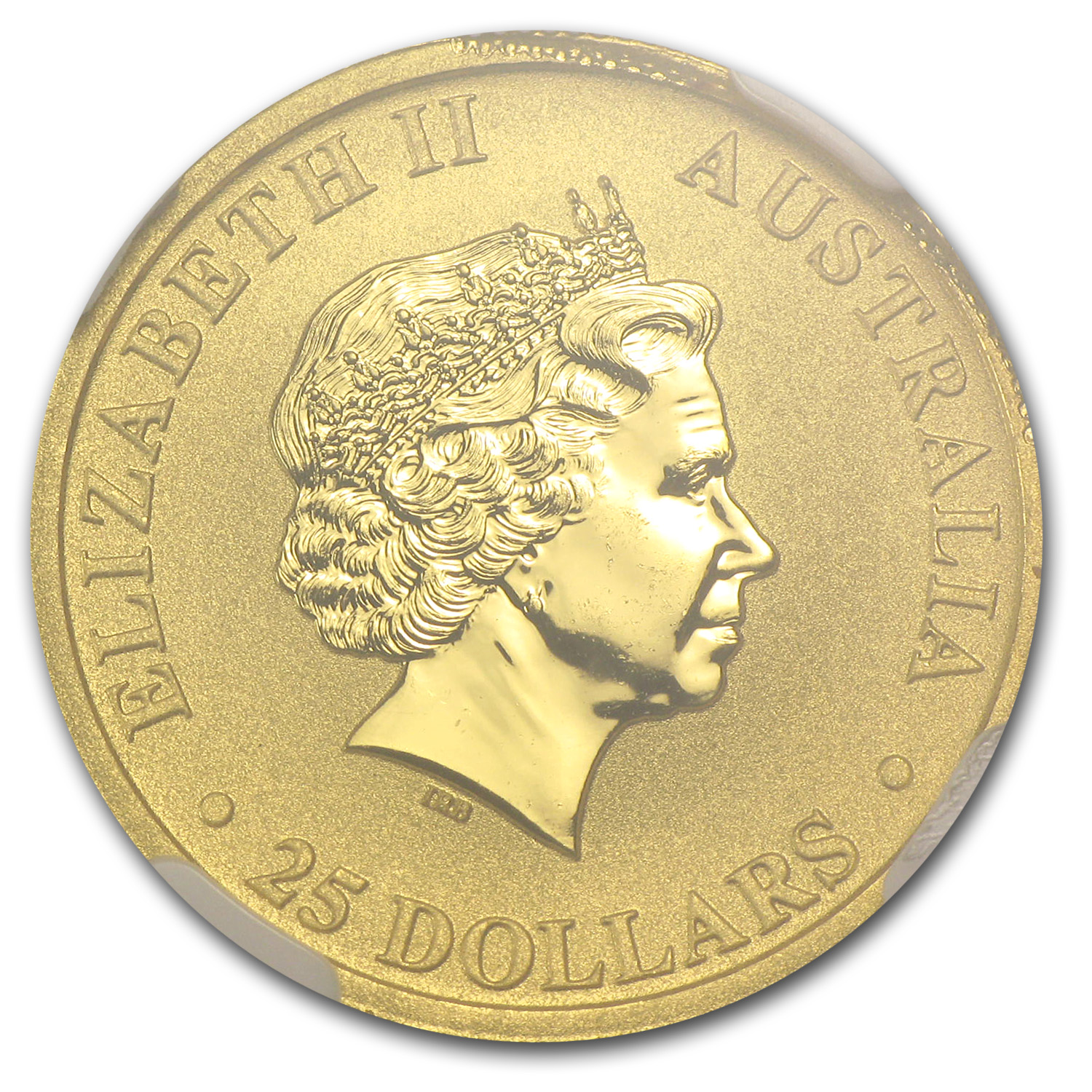 2014 Australia 1/4 oz Gold Kangaroo MS-67 NGC Mint Error