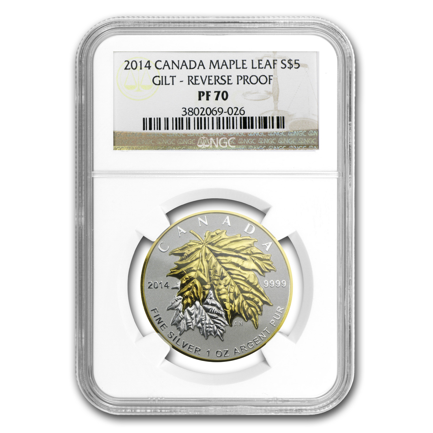 2014 Canada 5-Coin Silver Maple Leaf Set PF-70 NGC
