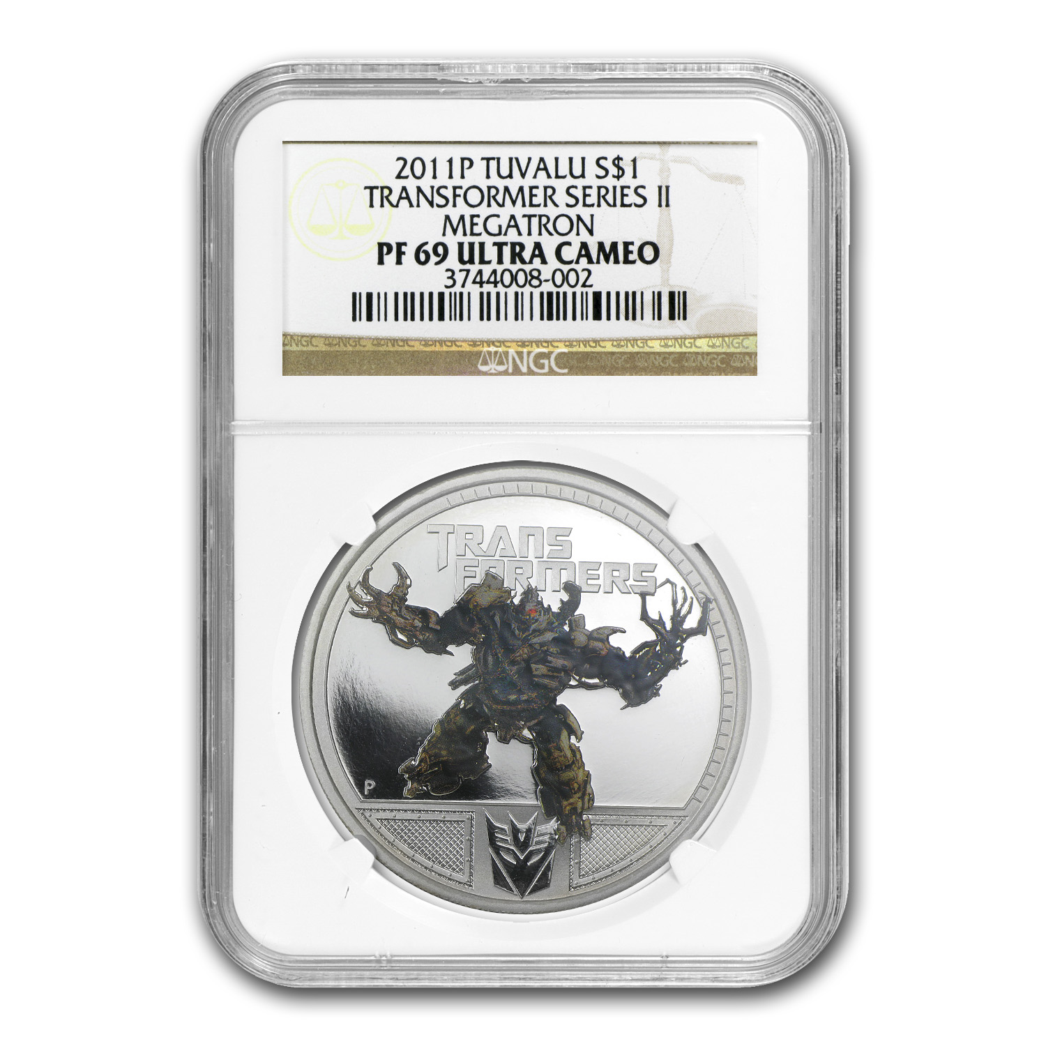 2011 1 oz Proof Silver Megatron - Series II PF-69 UCAM NGC