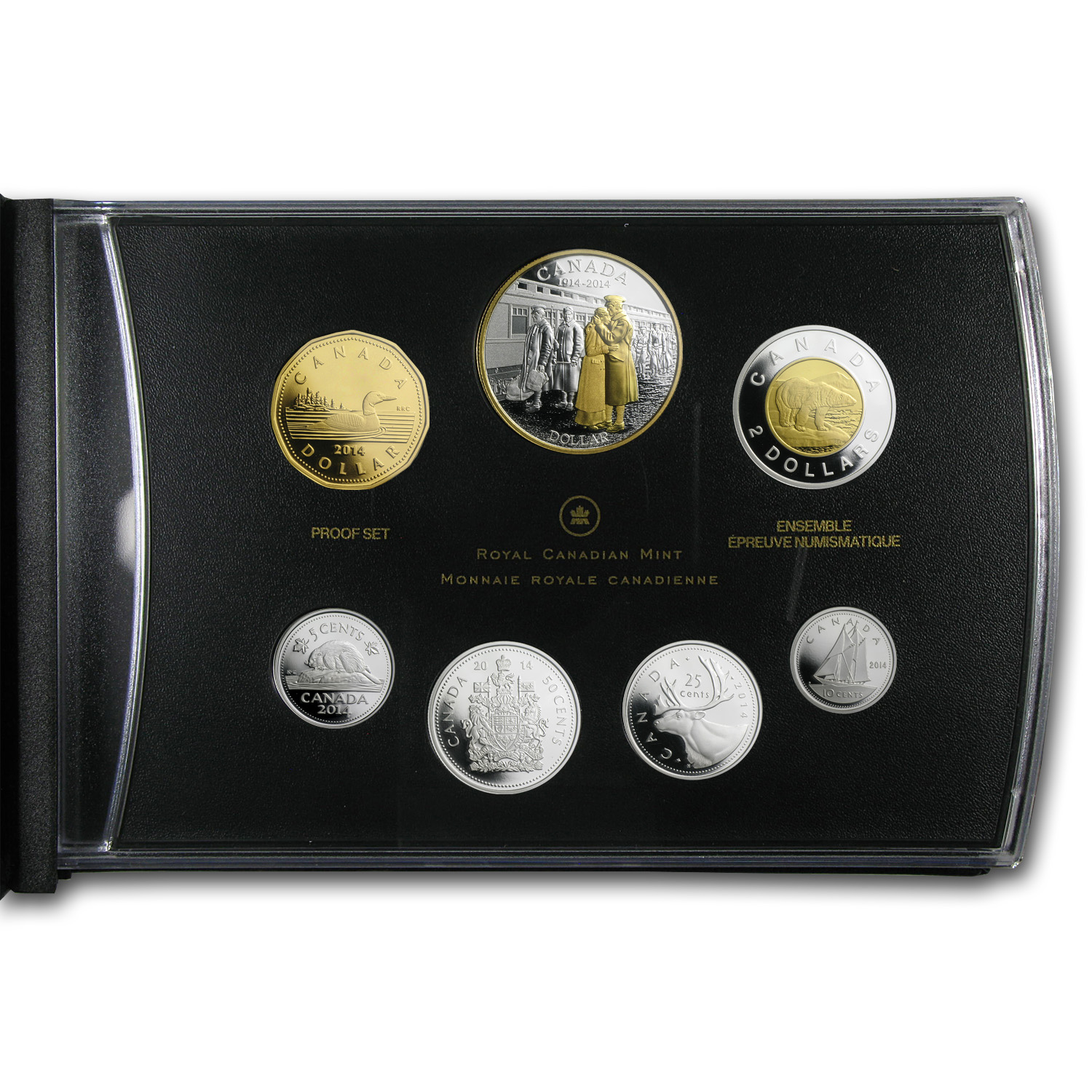 2014 Canadian 100th Anniv. of the Declaration of WW1 - 7 Coin Set