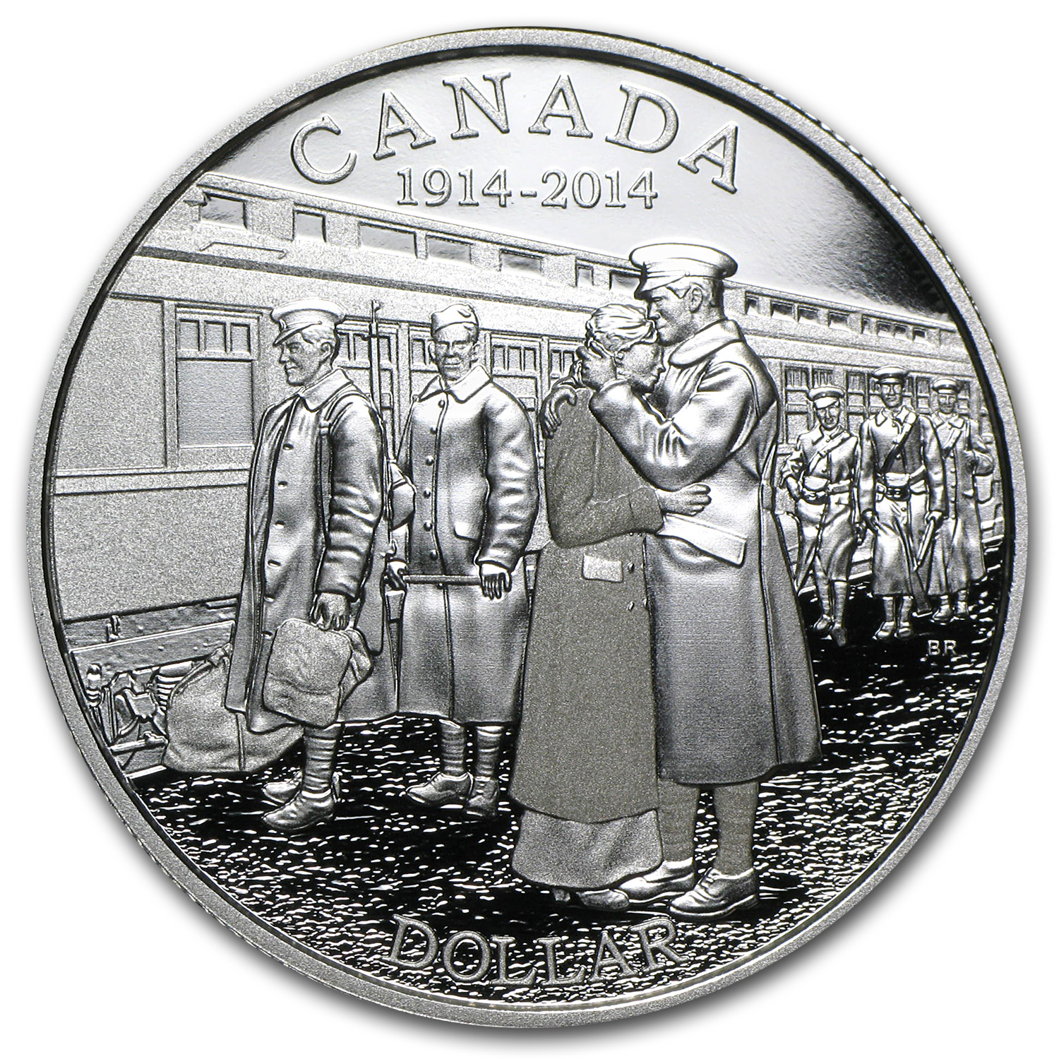 2014 Silver Canadian 100th Anniv. of the Declaration of WW1 Proof