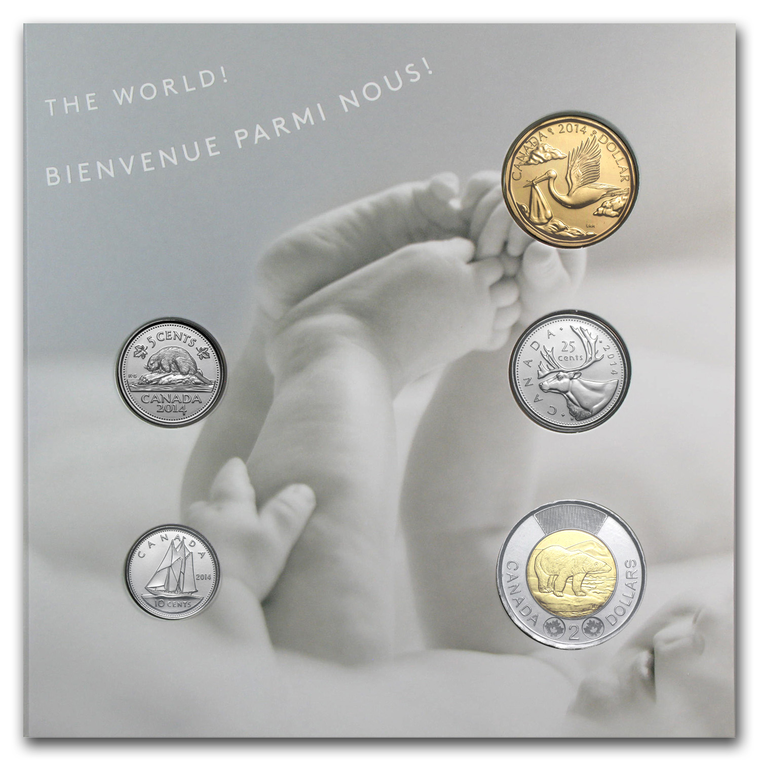 2014 5-Coin Canadian Newborn Baby Gift Set