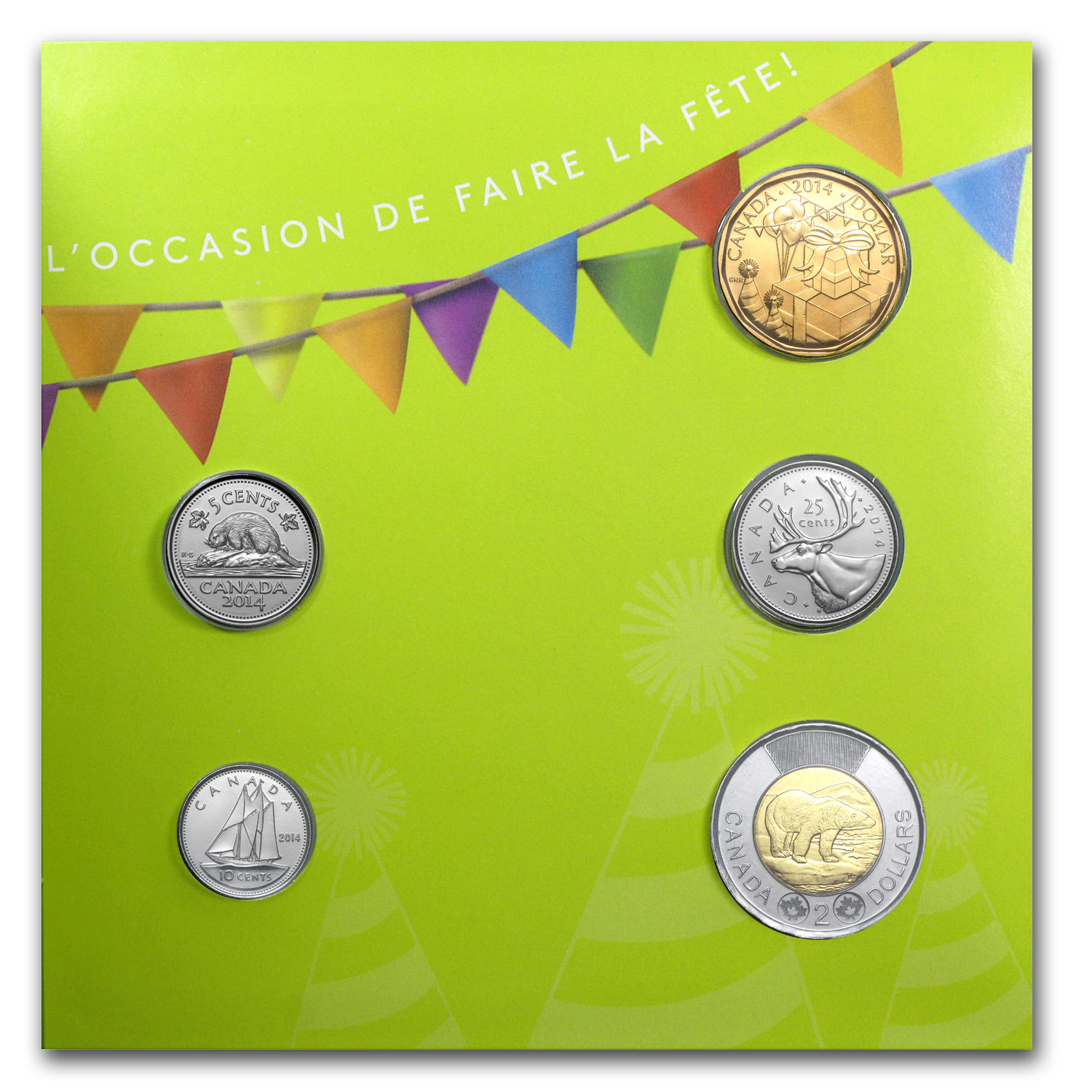 2014 Canada 5-Coin Happy Birthday Gift Set