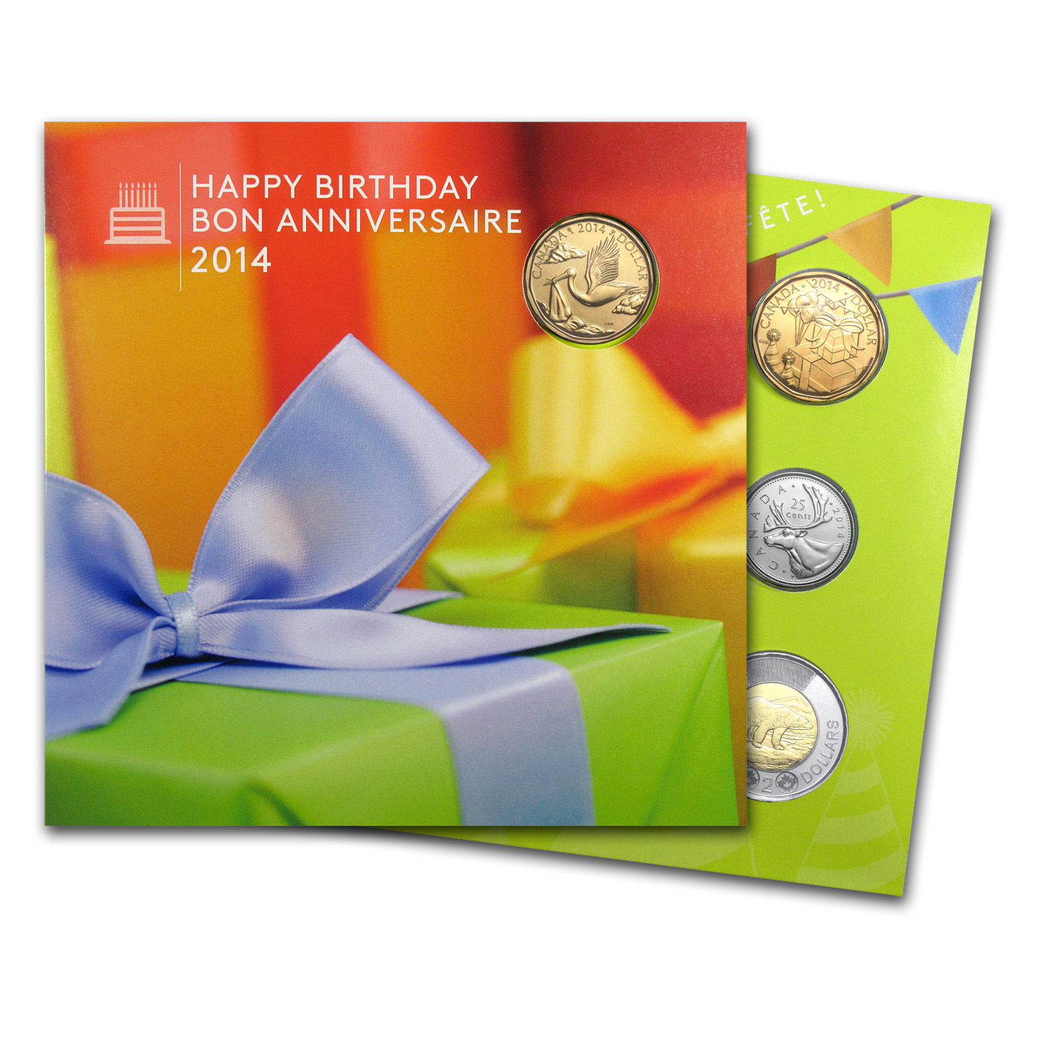 2014 5-Coin Canadian Happy Birthday Gift Set