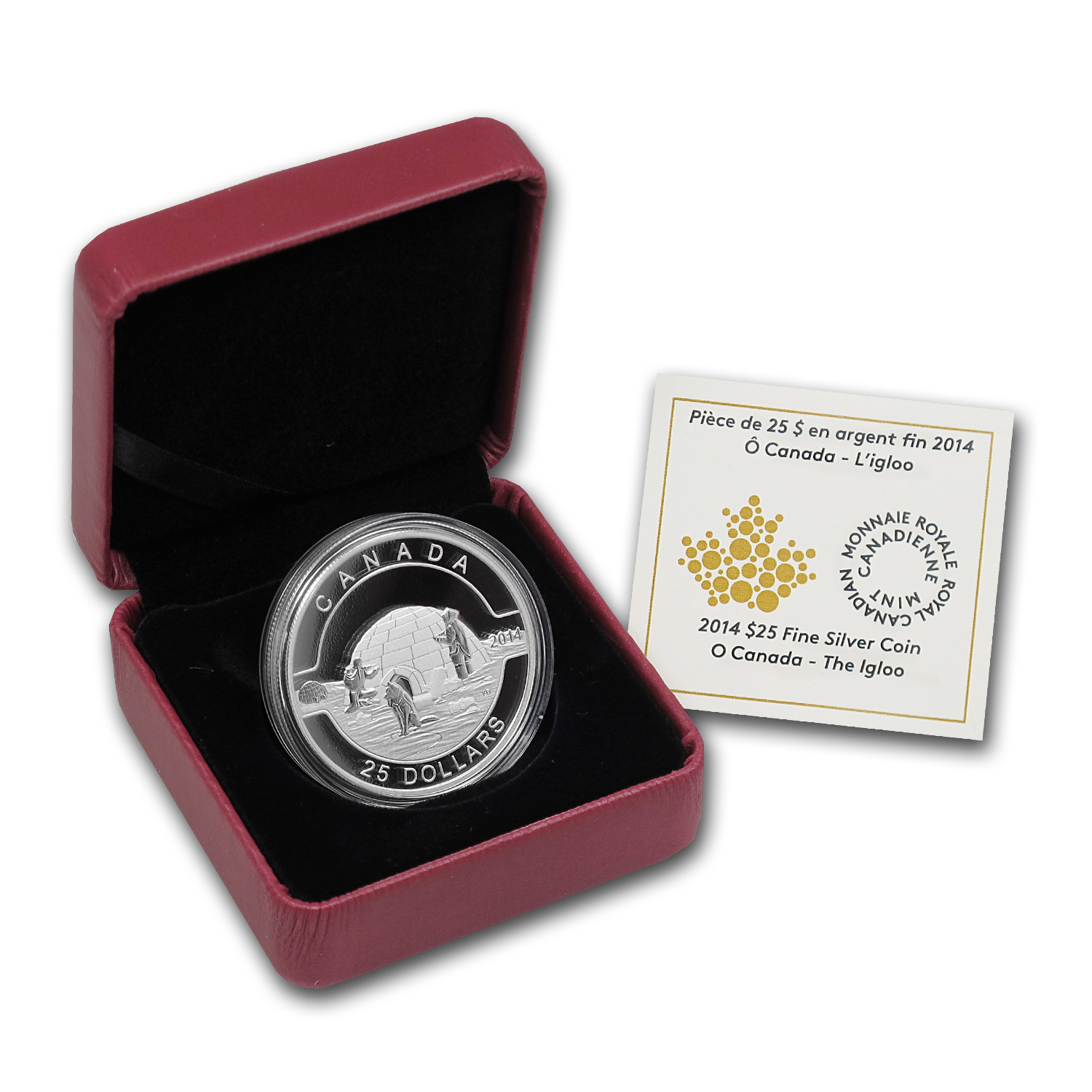2014 1 oz Silver Canadian $25 The Igloo