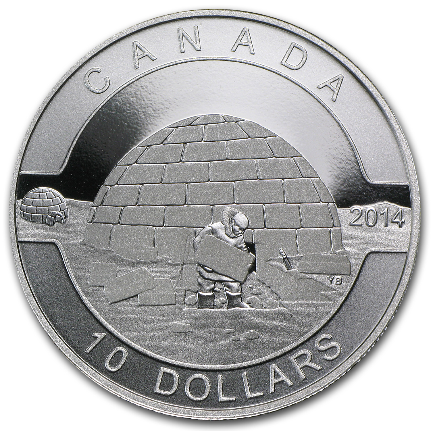 2014 Canada 1/2 oz Silver $10 The Igloo (w/Box & COA)