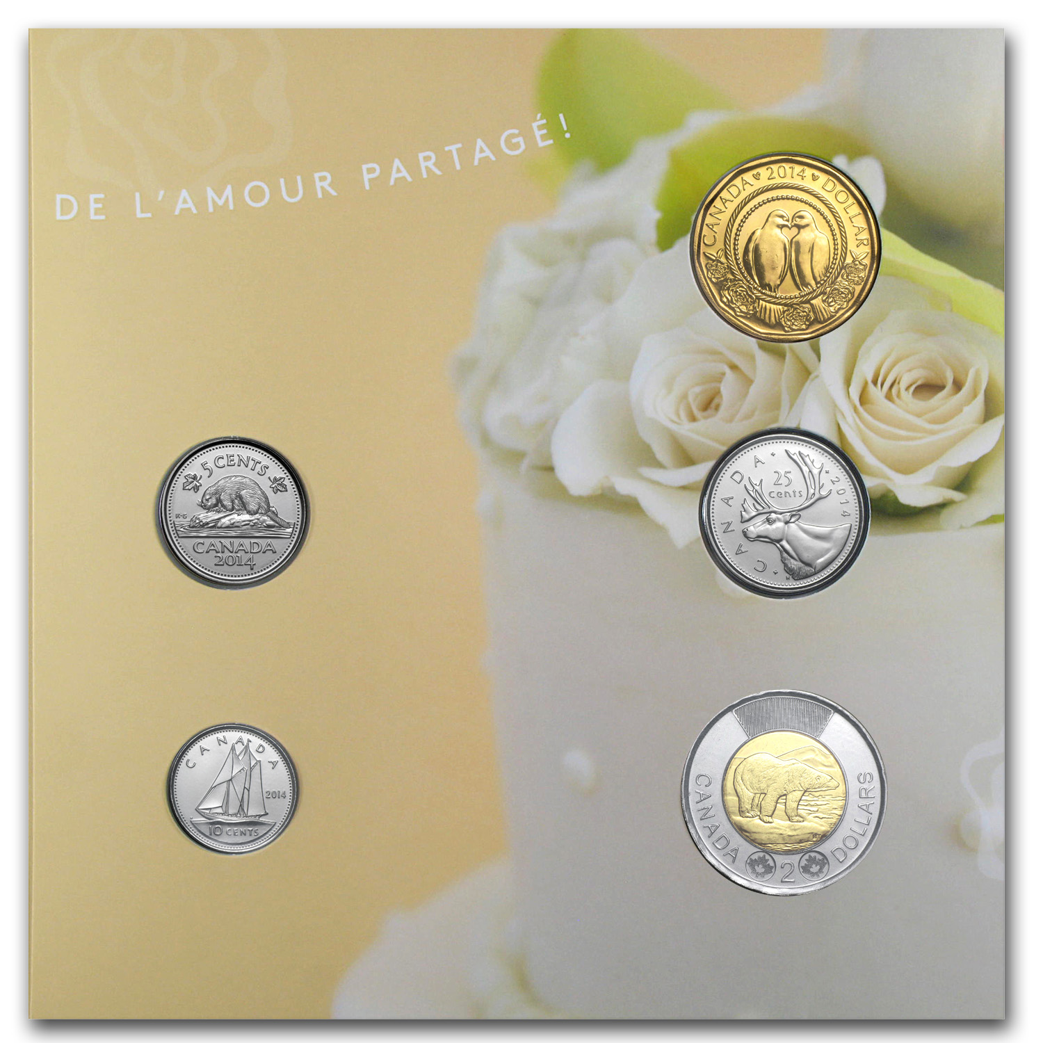 2014 Canada Wedding 5-Coin Gift Set