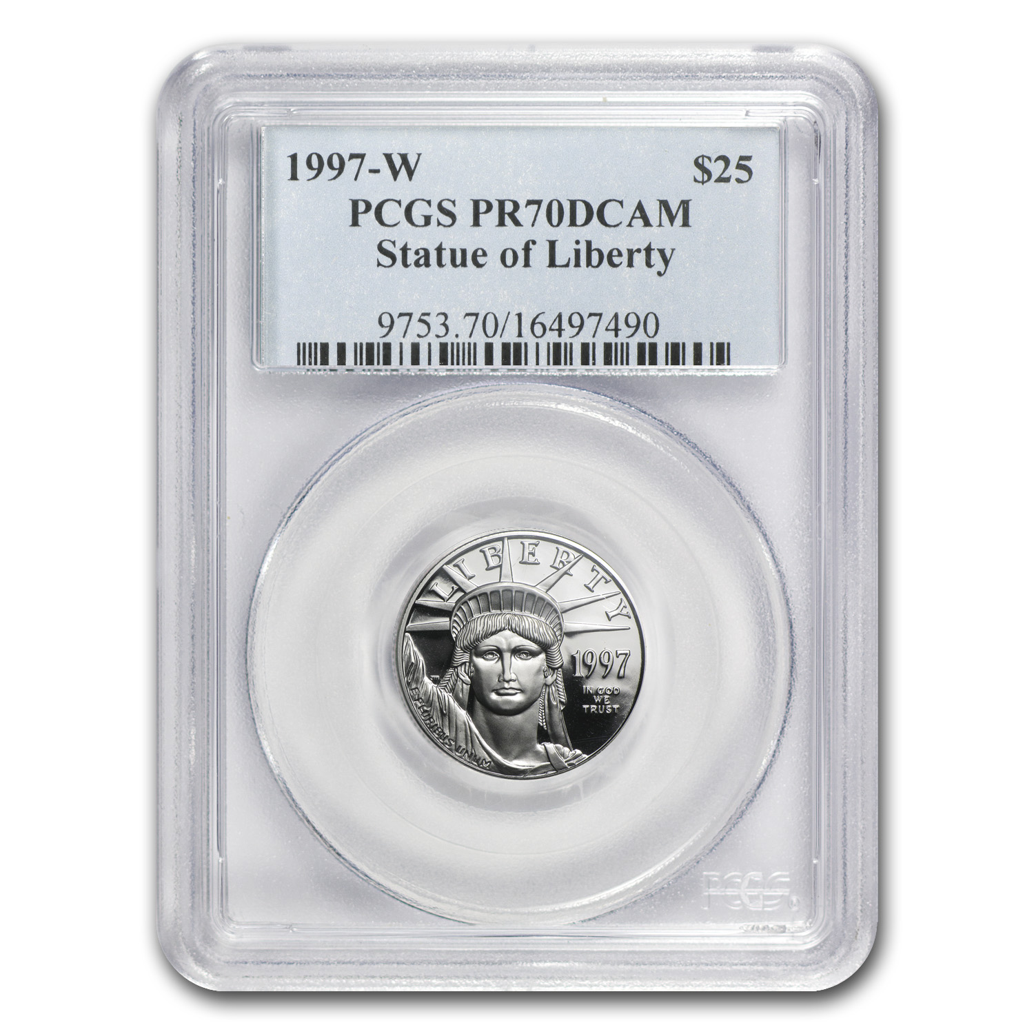 1997-W 4-Coin Proof Platinum American Eagle Set PR-70 PCGS