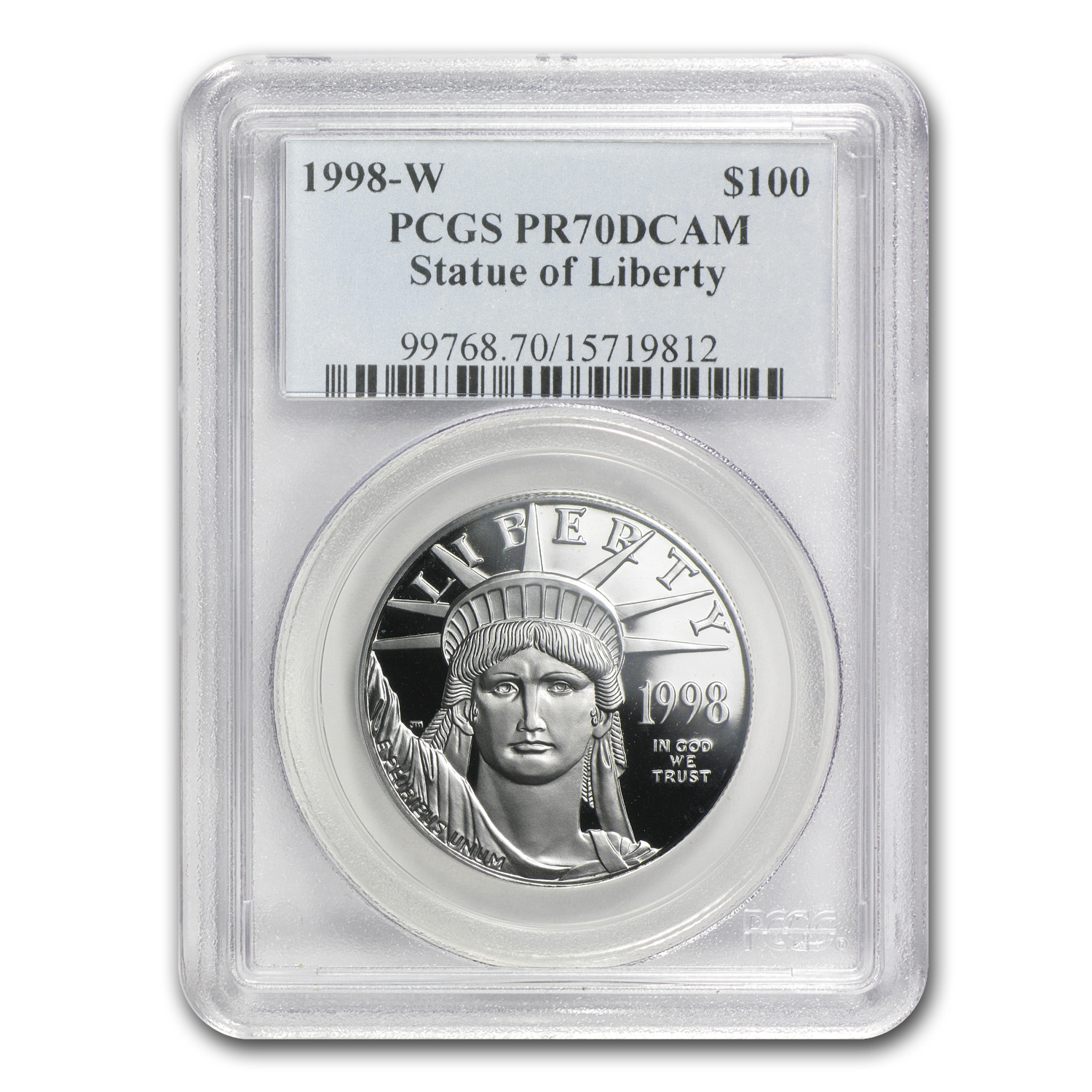 1998-W 4-Coin Proof Platinum American Eagle Set PR-70 PCGS