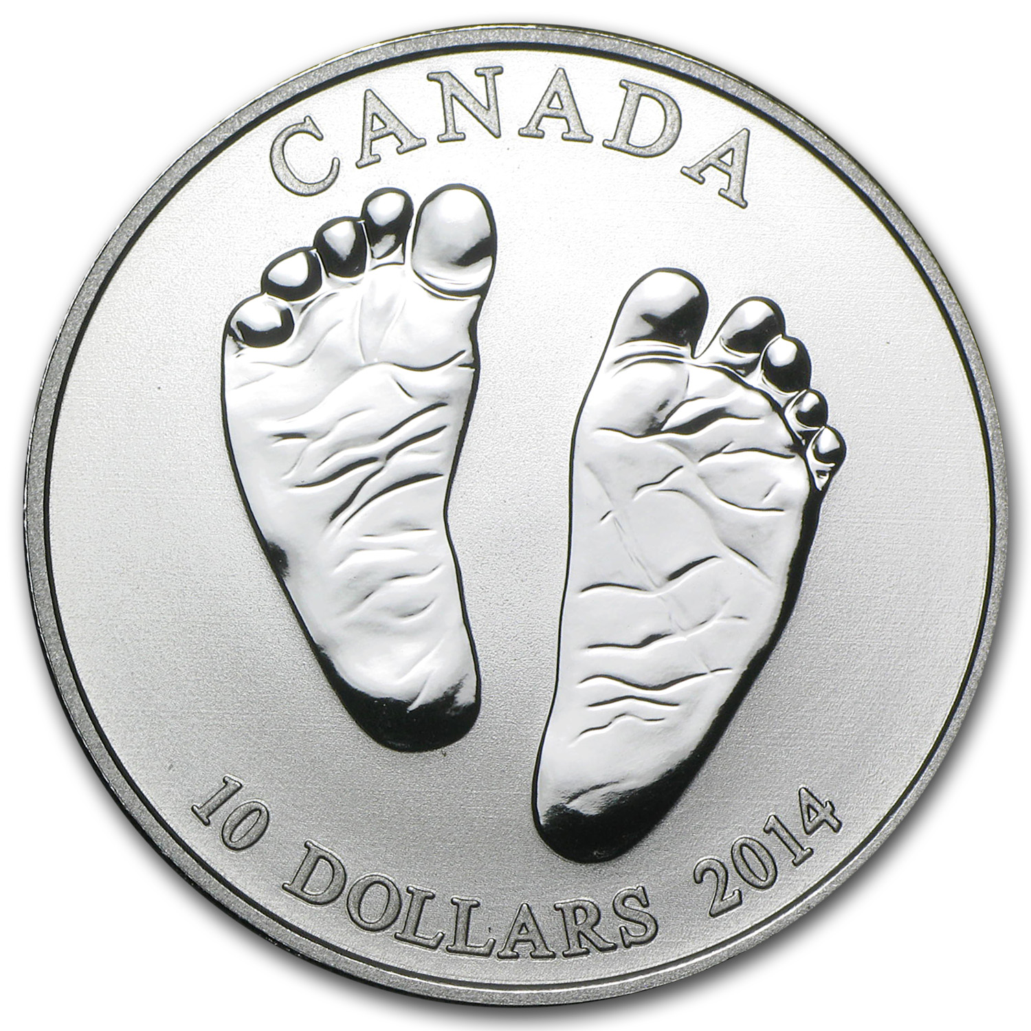2014 1/2 oz Silver Canadian $10 Welcome Baby (w/Box & COA)