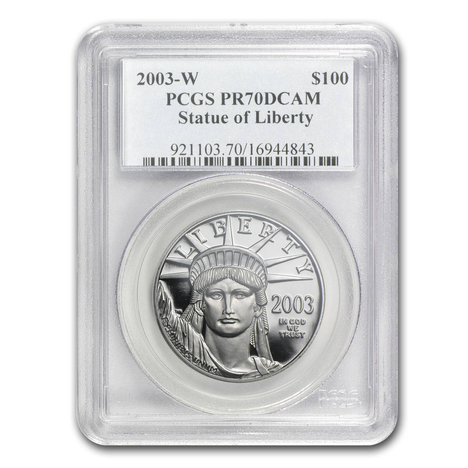2003-W 4-Coin Proof Platinum American Eagle Set PR-70 PCGS