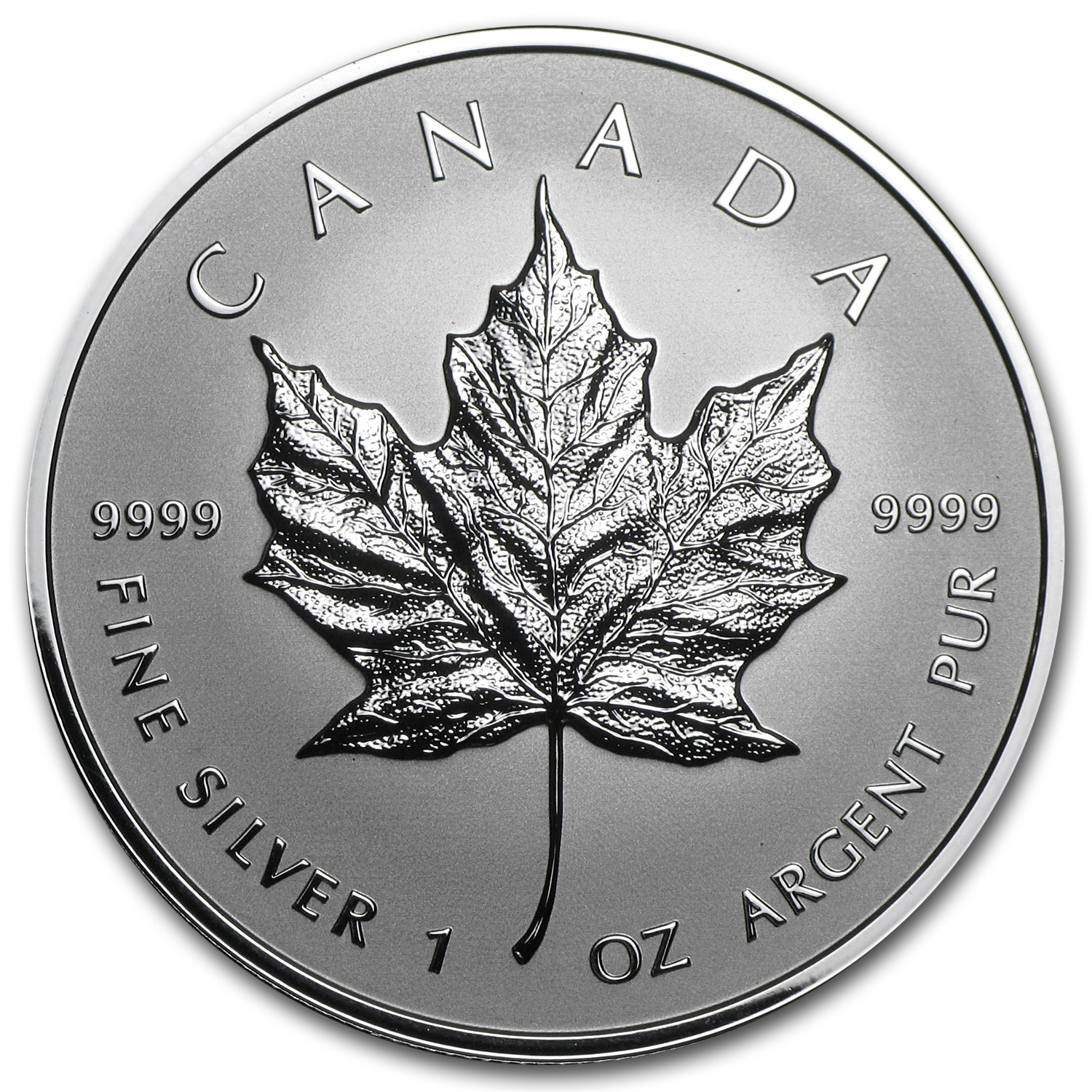2014 1 oz Silver Reverse Proof Canadian Maple Leaf