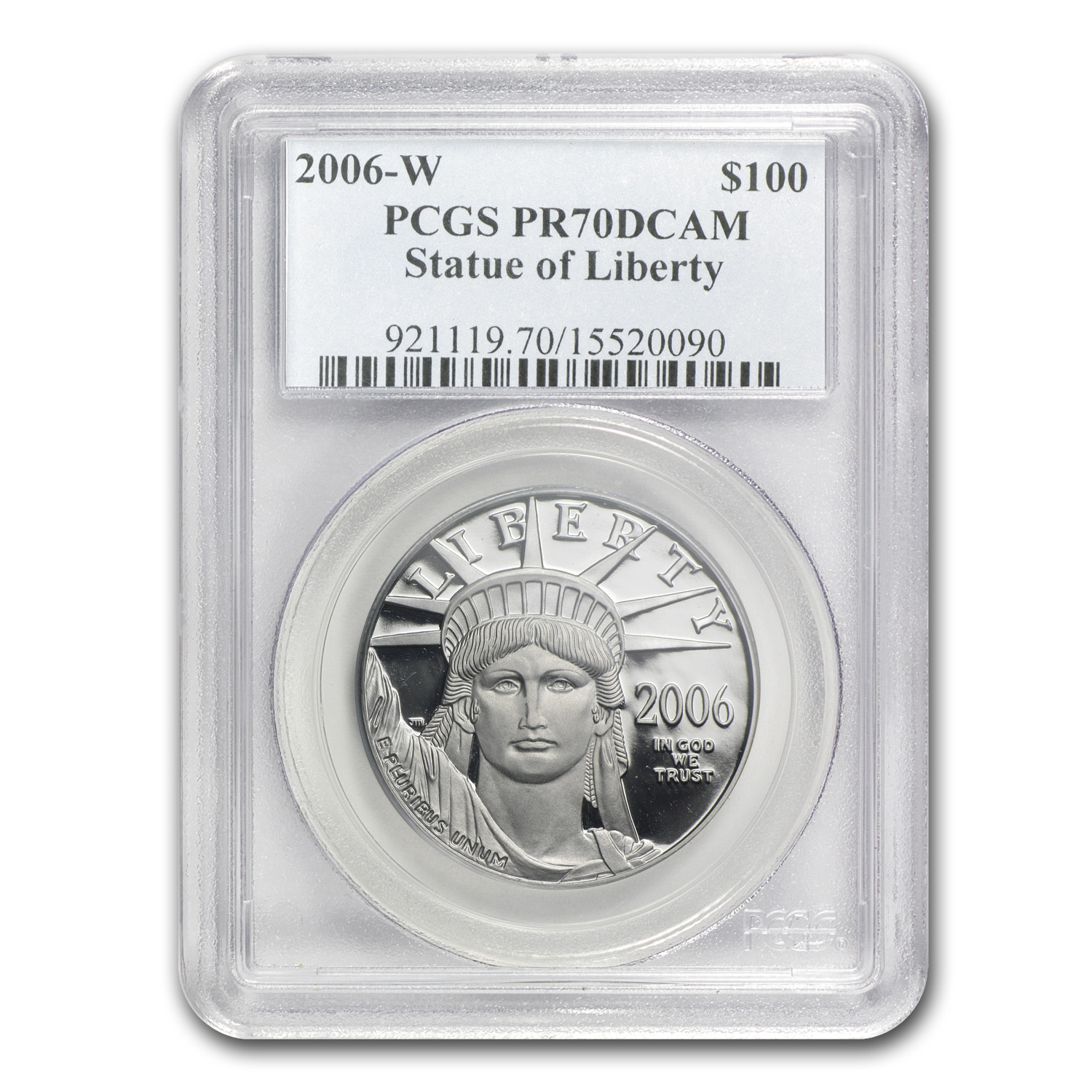2006-W 4-Coin Proof Platinum American Eagle Set PR-70 PCGS