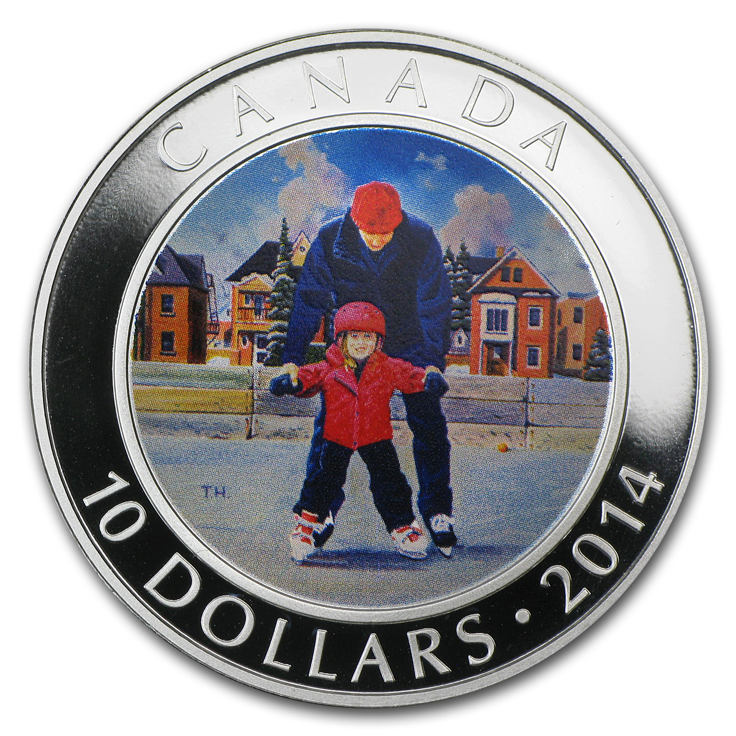 2014 1/2 oz Silver Canadian $10 Learning to Skate (w/Box & COA)