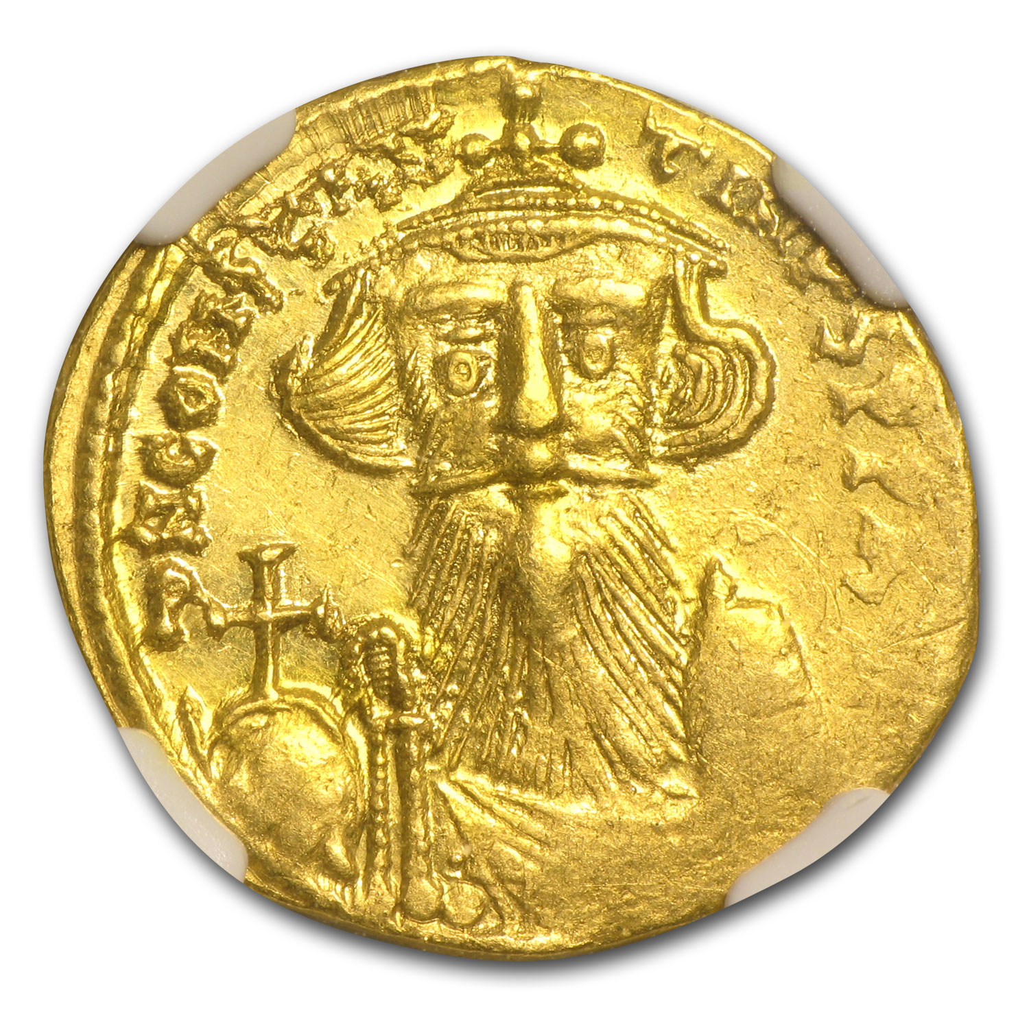Byzantine Gold Constans II AU NGC (641-668 AD)