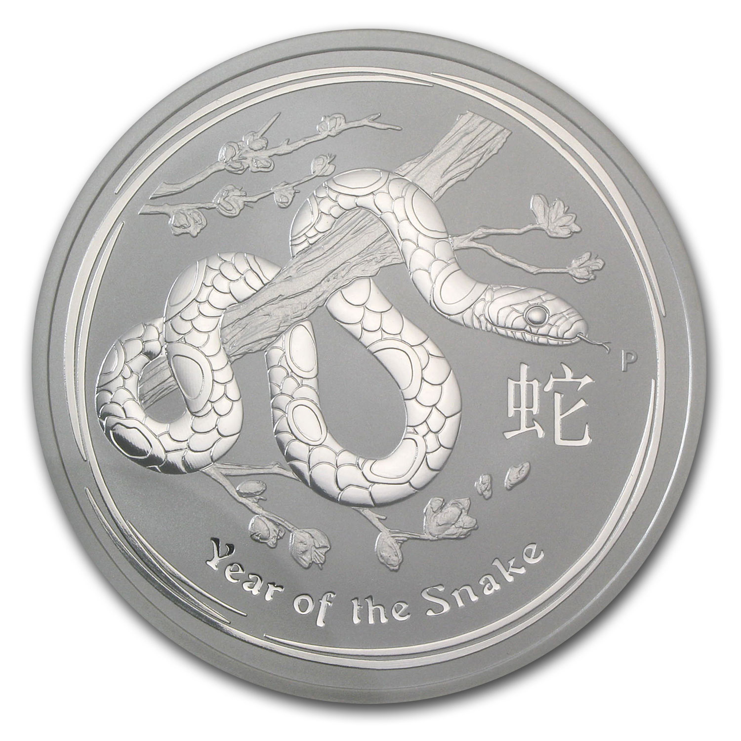 2013 Australia 2 oz Silver Year of the Snake MS-69 NGC (Error)