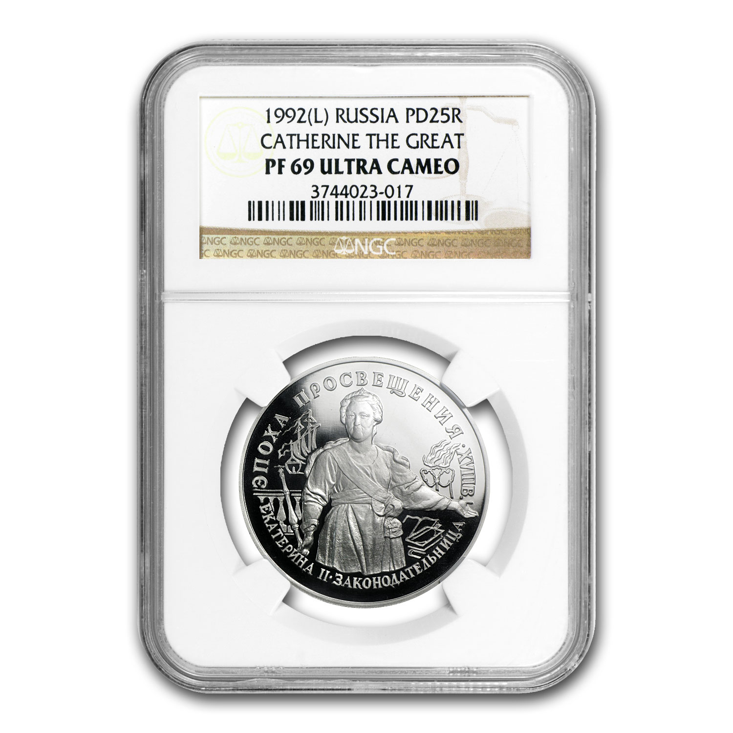 1992 1 oz Russian Palladium Catherine The Great PF-69 NGC UCAM