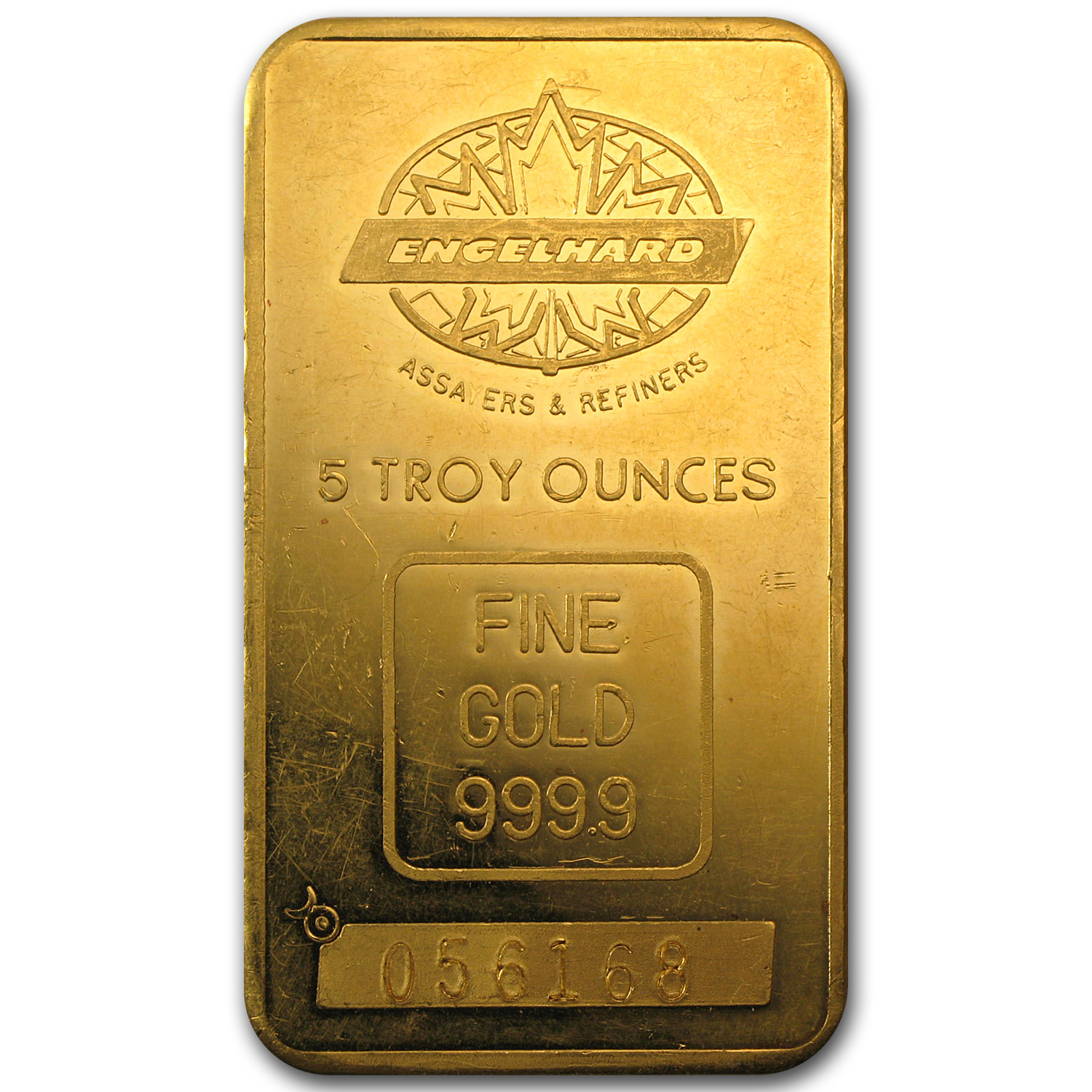 5 oz Gold Bar - Engelhard (Tall, Maple/Smooth)