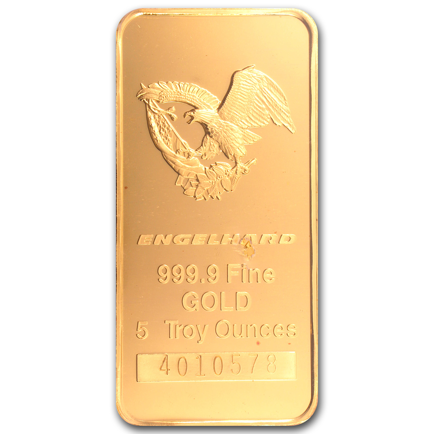 5 oz Gold Bars - Engelhard ('Eagle' logo, in Assay Card)