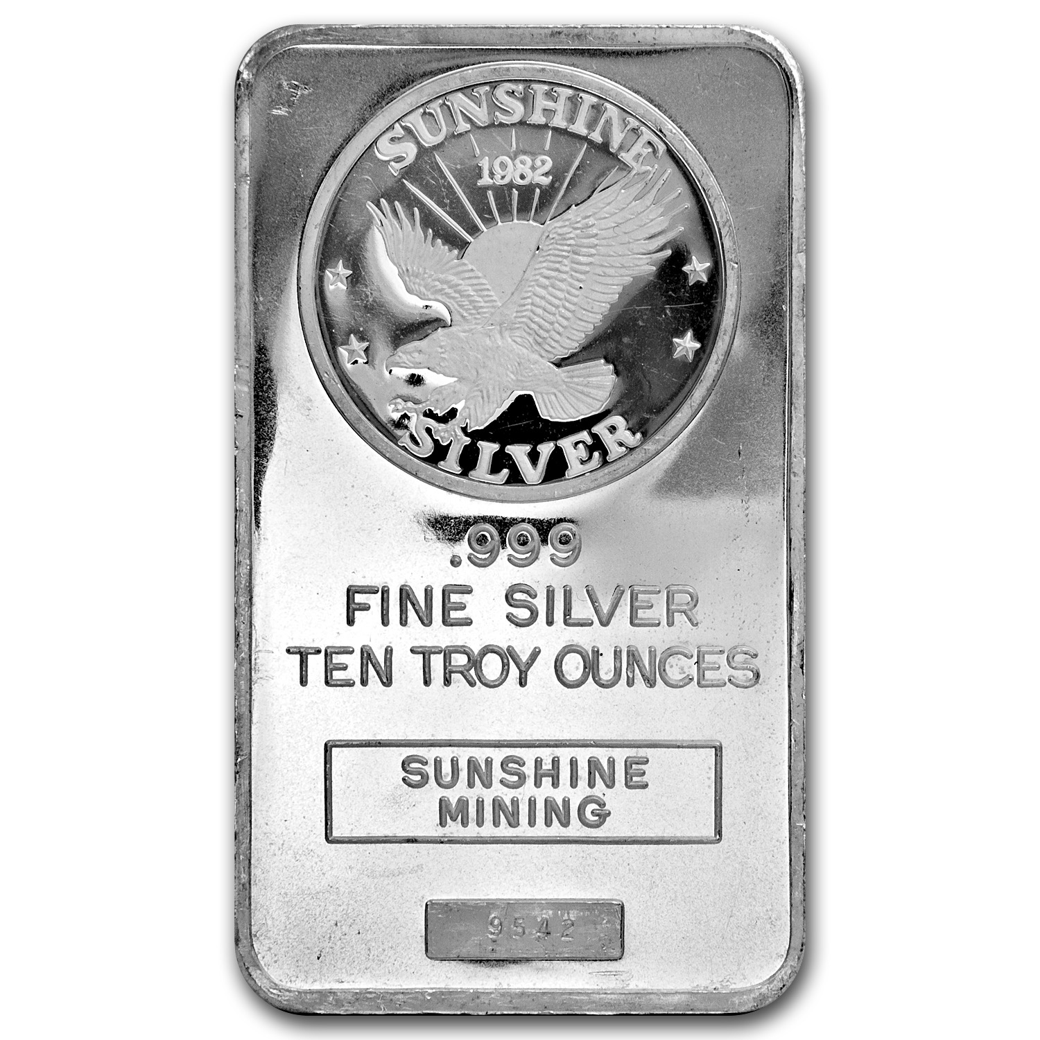 10 oz Silver Bar - Sunshine (Vintage, Dated)