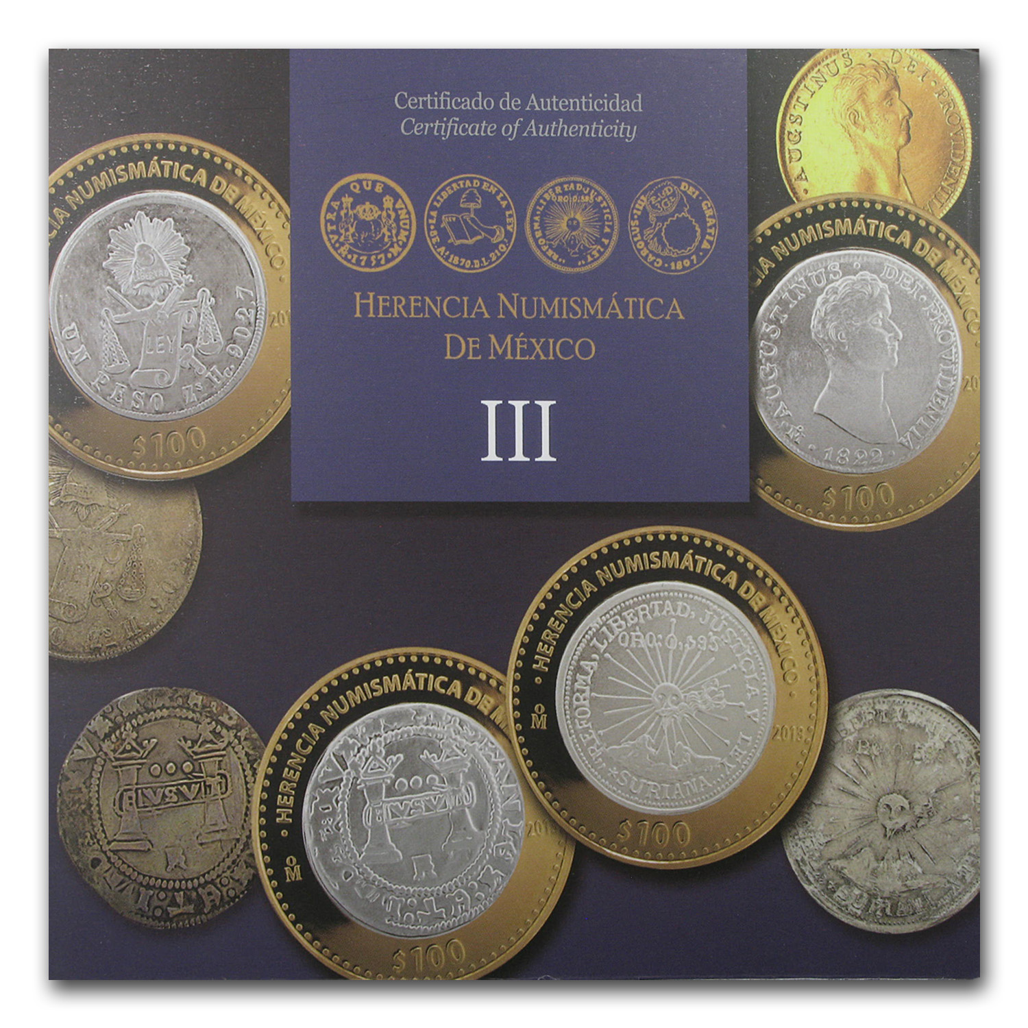 2013 Mexico 6-Coin Silver Numismatic Heritage Set (Series III)
