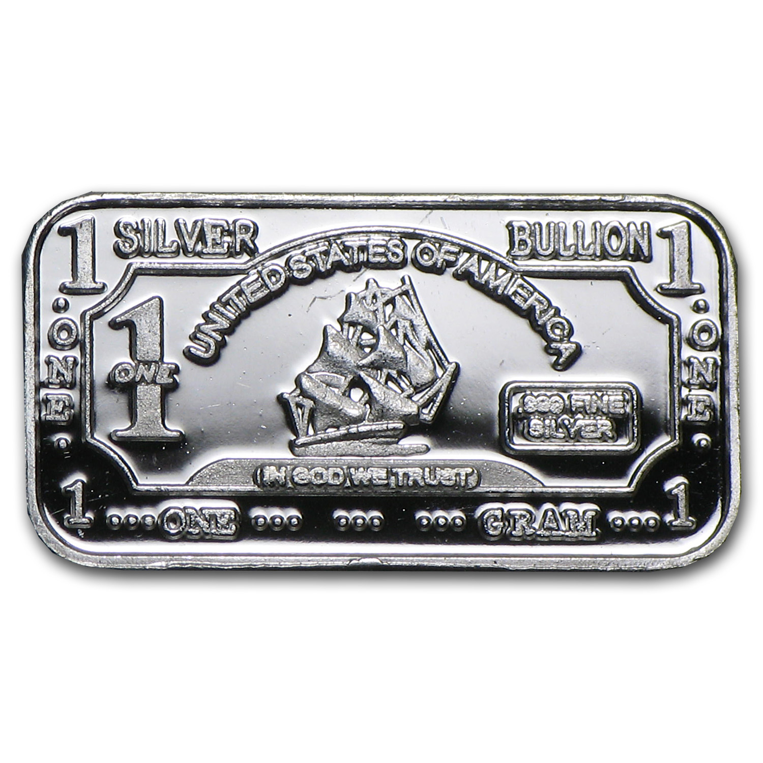 1 Gram Silver Bar Ship Fractional Less Than 1 Oz