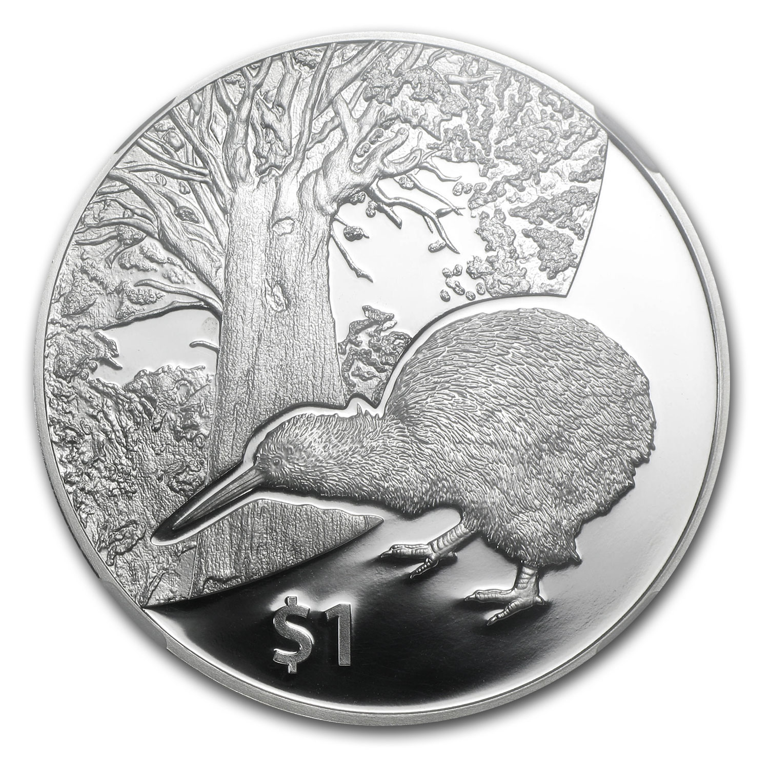 2013 1 oz Silver New Zealand Treasures $1 Kiwi PF-69 NGC