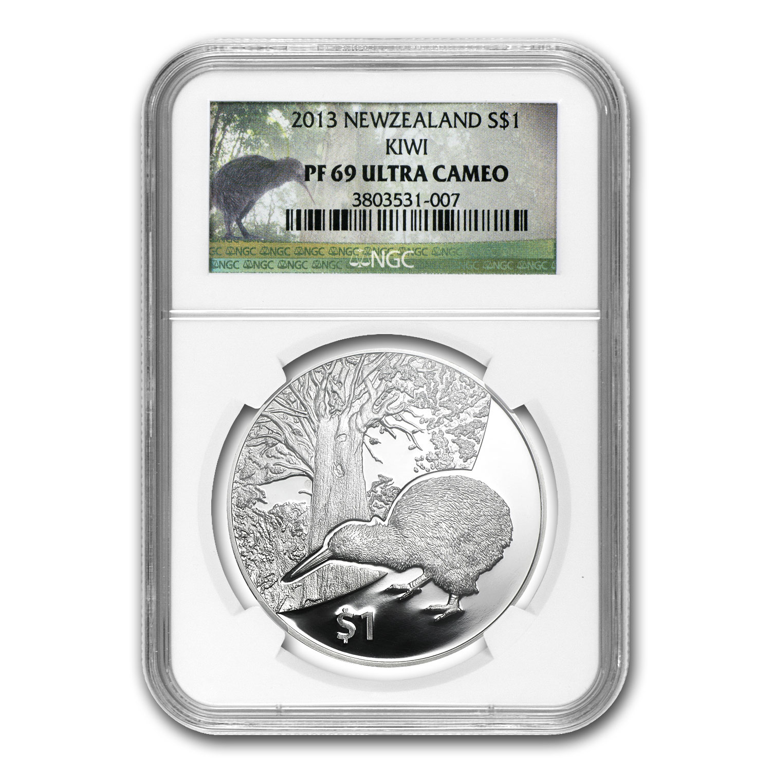 2013 New Zealand 1 oz Silver Treasures $1 Kiwi PF-69 NGC