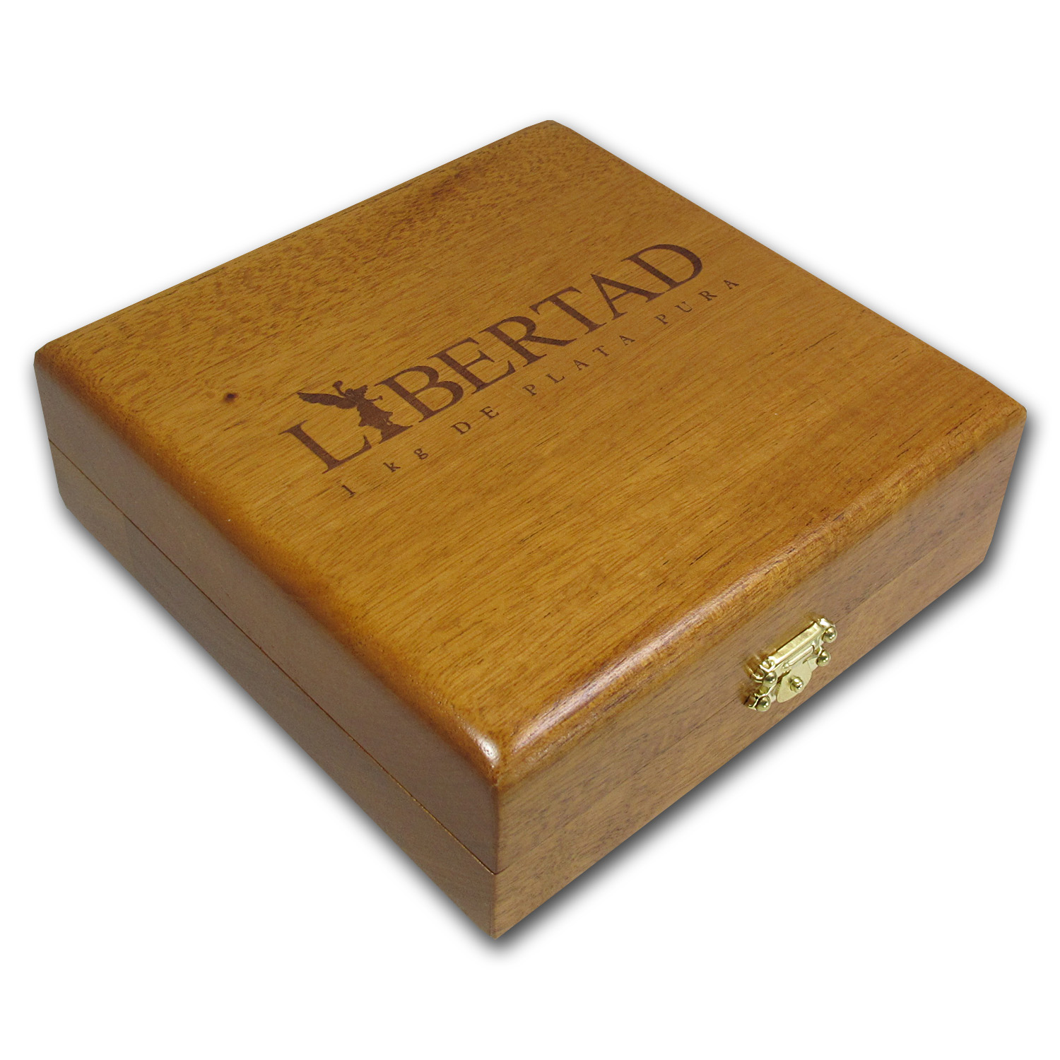 Bank of Mexico Kilo Silver Libertad Wood Display Box