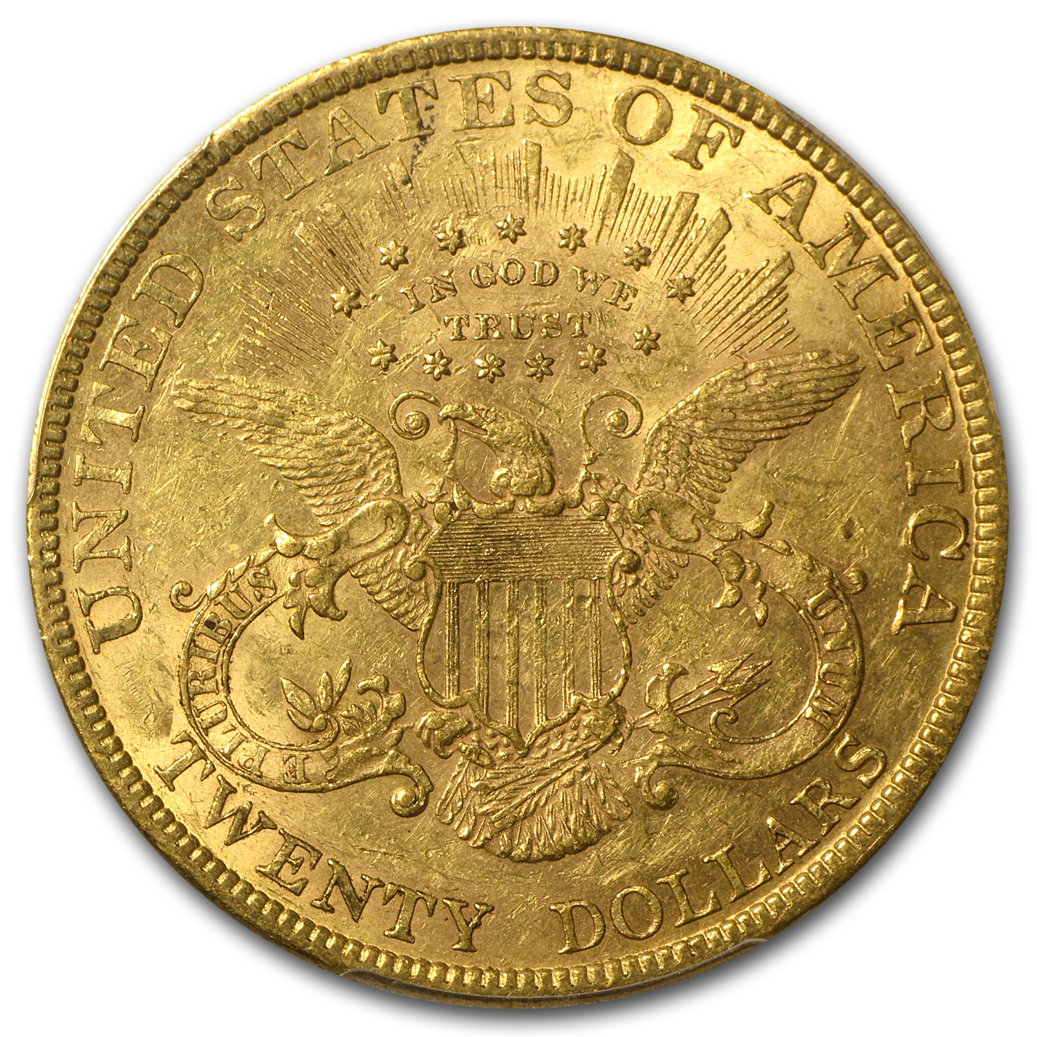 1880 $20 Liberty Gold Double Eagle AU-55 PCGS