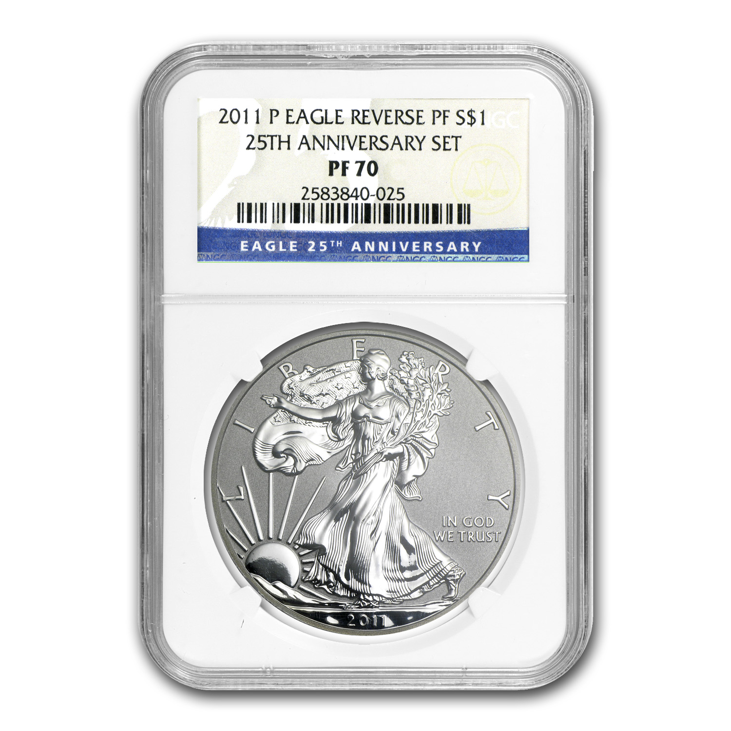 2011-P (Reverse Proof) Silver Eagle PF-70 NGC