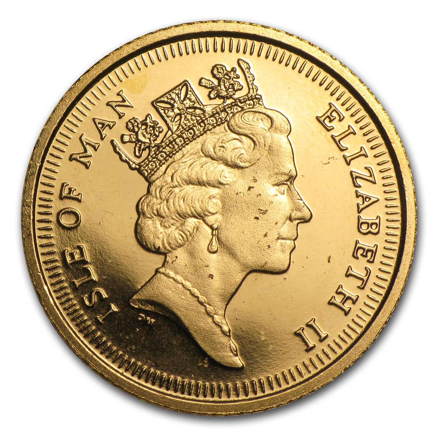 1991 Isle of Man Gold 1/2 Sovereign BU/Proof (Shields)