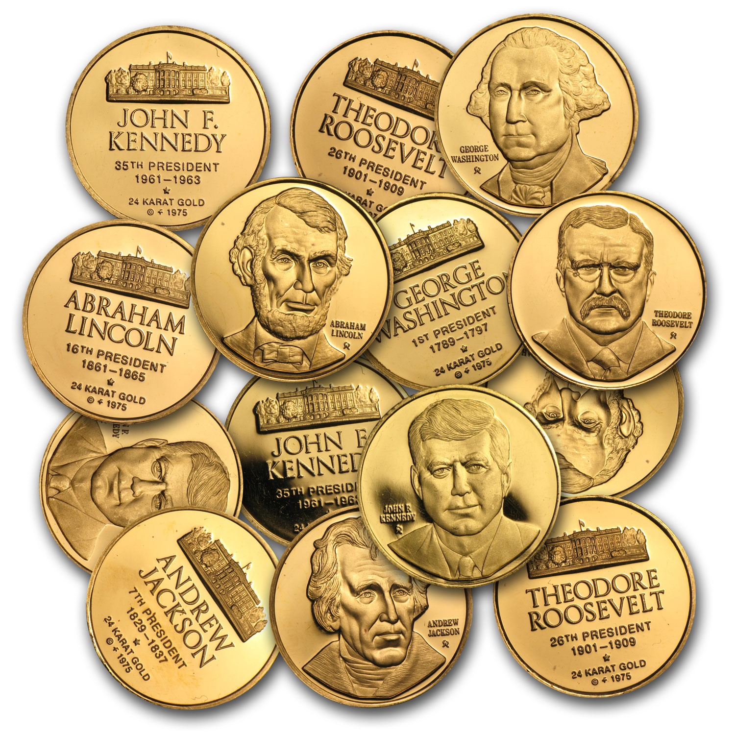 .15 oz Gold Rounds - Presidential Gold Medals