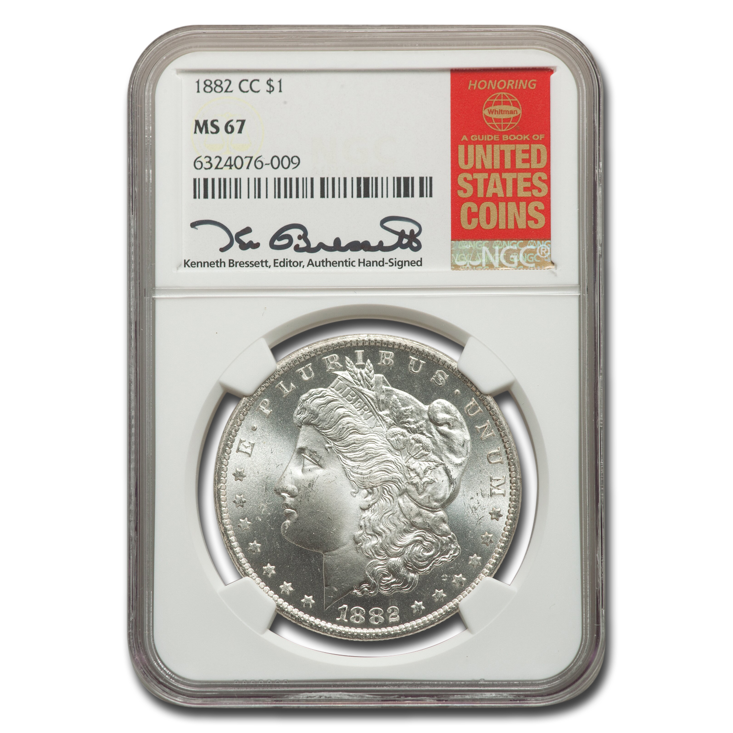 1882-CC Morgan Dollar MS-67 NGC