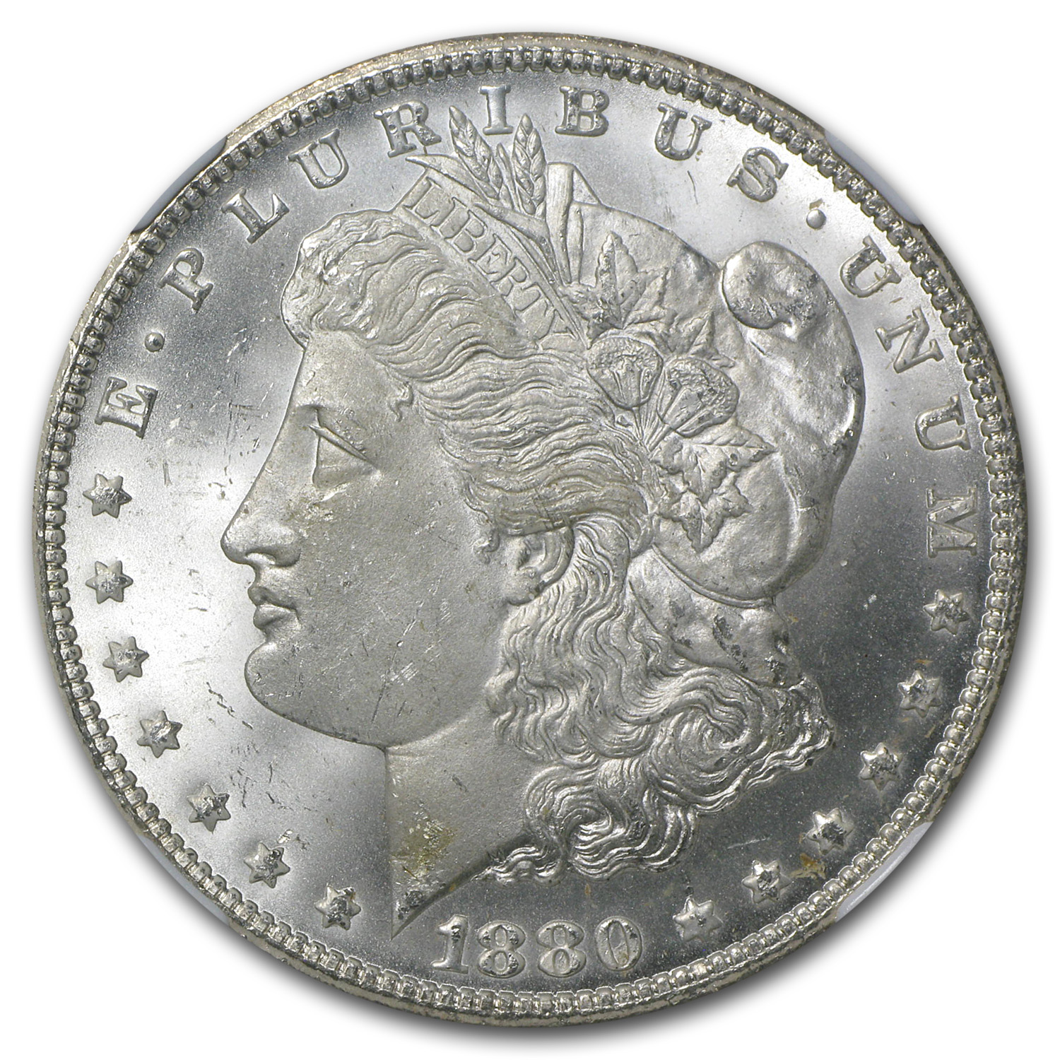 1880-CC Morgan Dollar - Reverse of 1878 MS-65 NGC