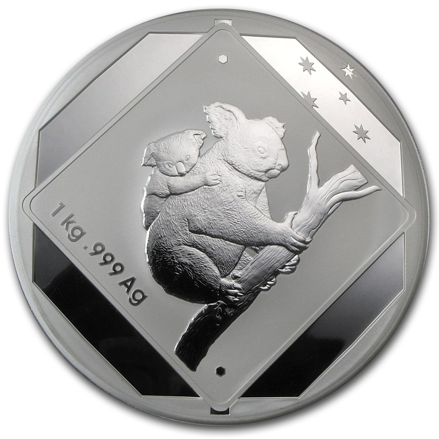 2014 Australia 1 Kilo Silver Koala Road Sign Royal