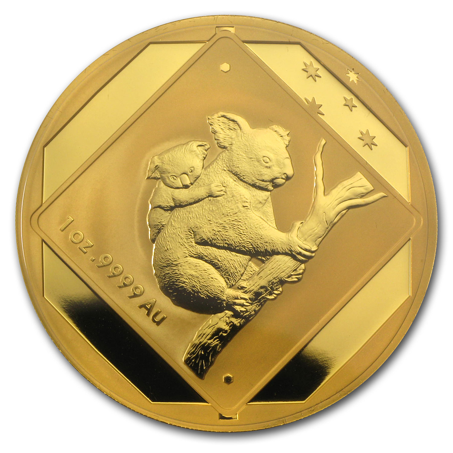 2014 Australia 1 oz Gold $100 Koala Road Sign BU