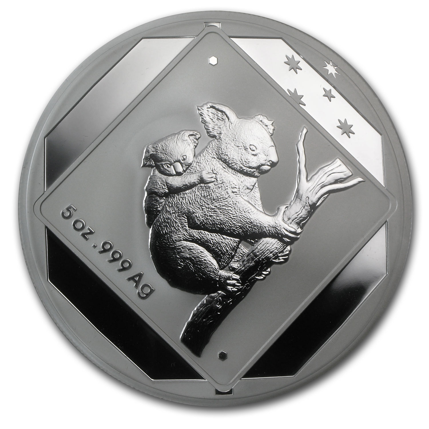 2014 5 oz Australian Silver Koala Road Sign